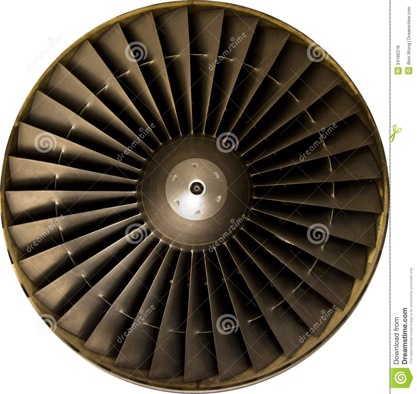 Jet Engine Fan Blades : Jet engine stock photo image of blade front titanium