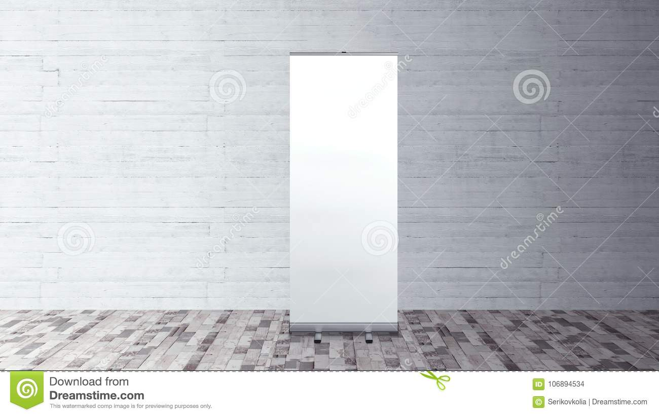 Exhibition Stand Roll Up : Rollup banner stand blank template mockup stock illustration