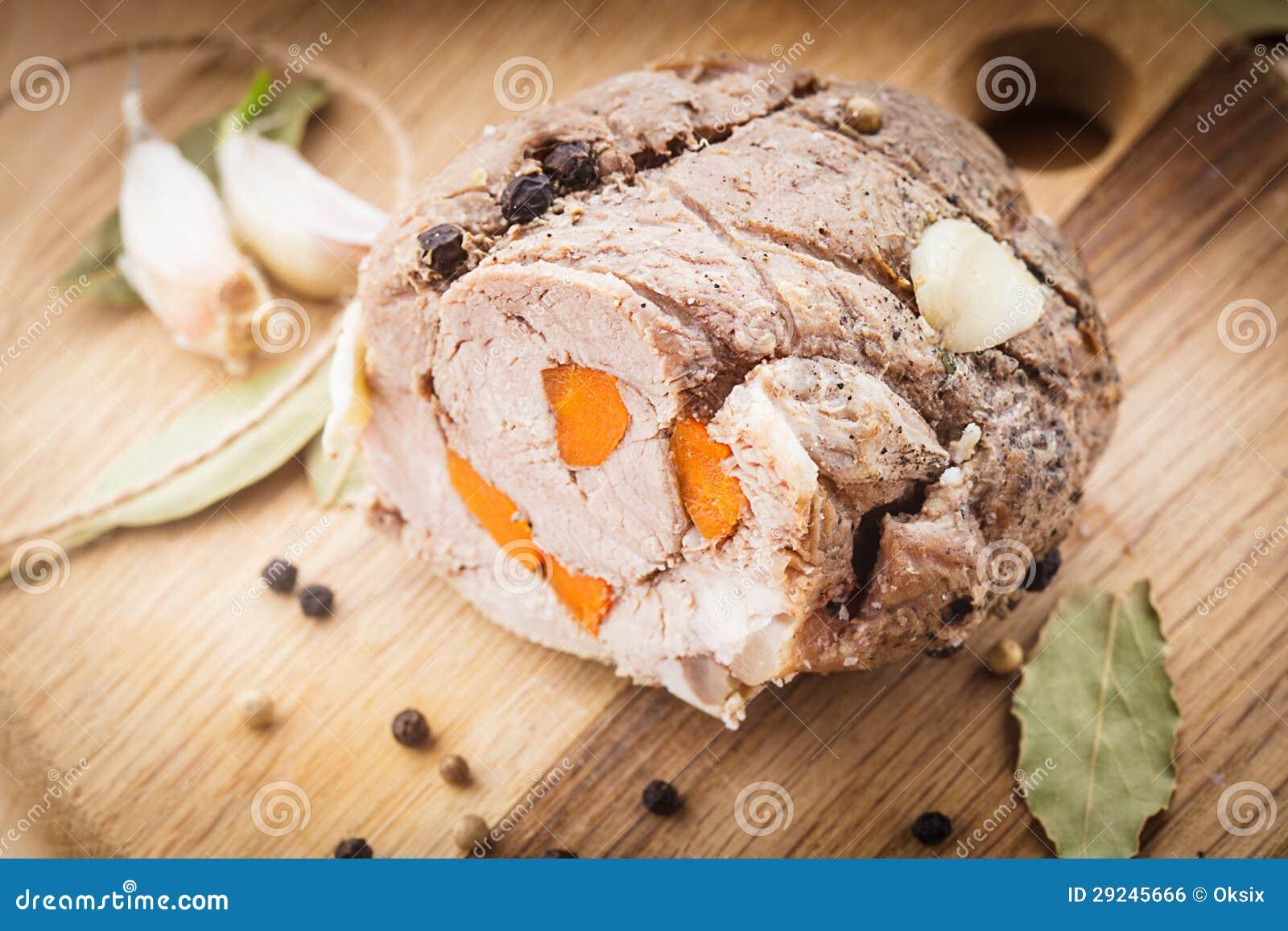 Download Rolo de carne Roasted foto de stock. Imagem de alimento - 29245666