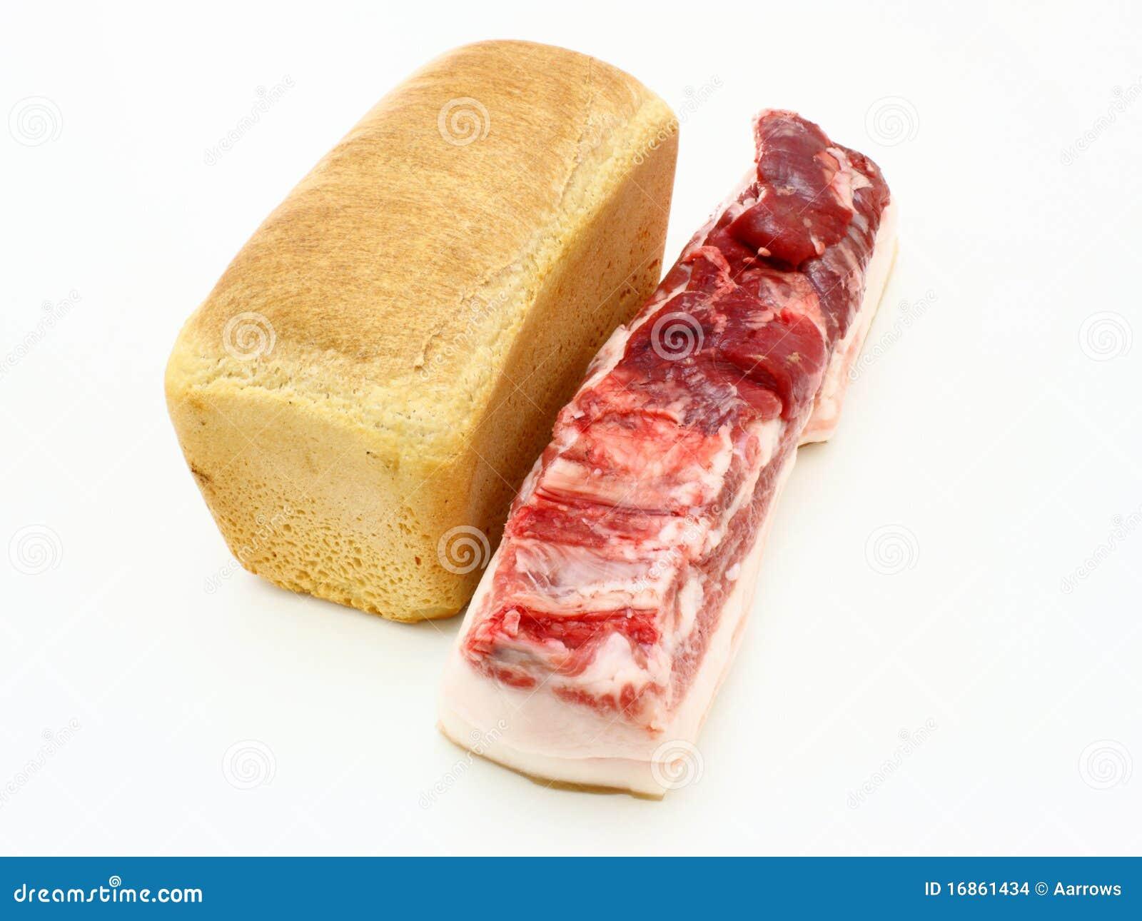 Rolo do pão fresco e da parte grande