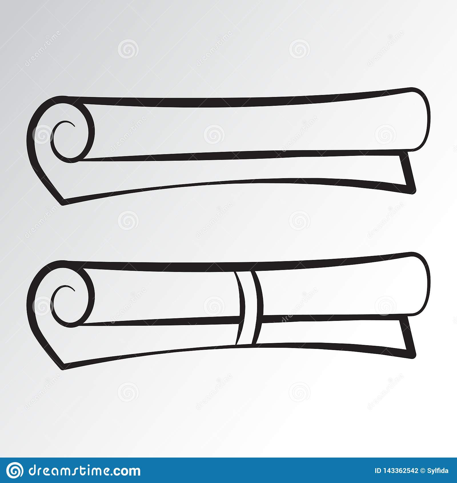 Rolpictogrammen Overzichtsontwerp Vector illustratie