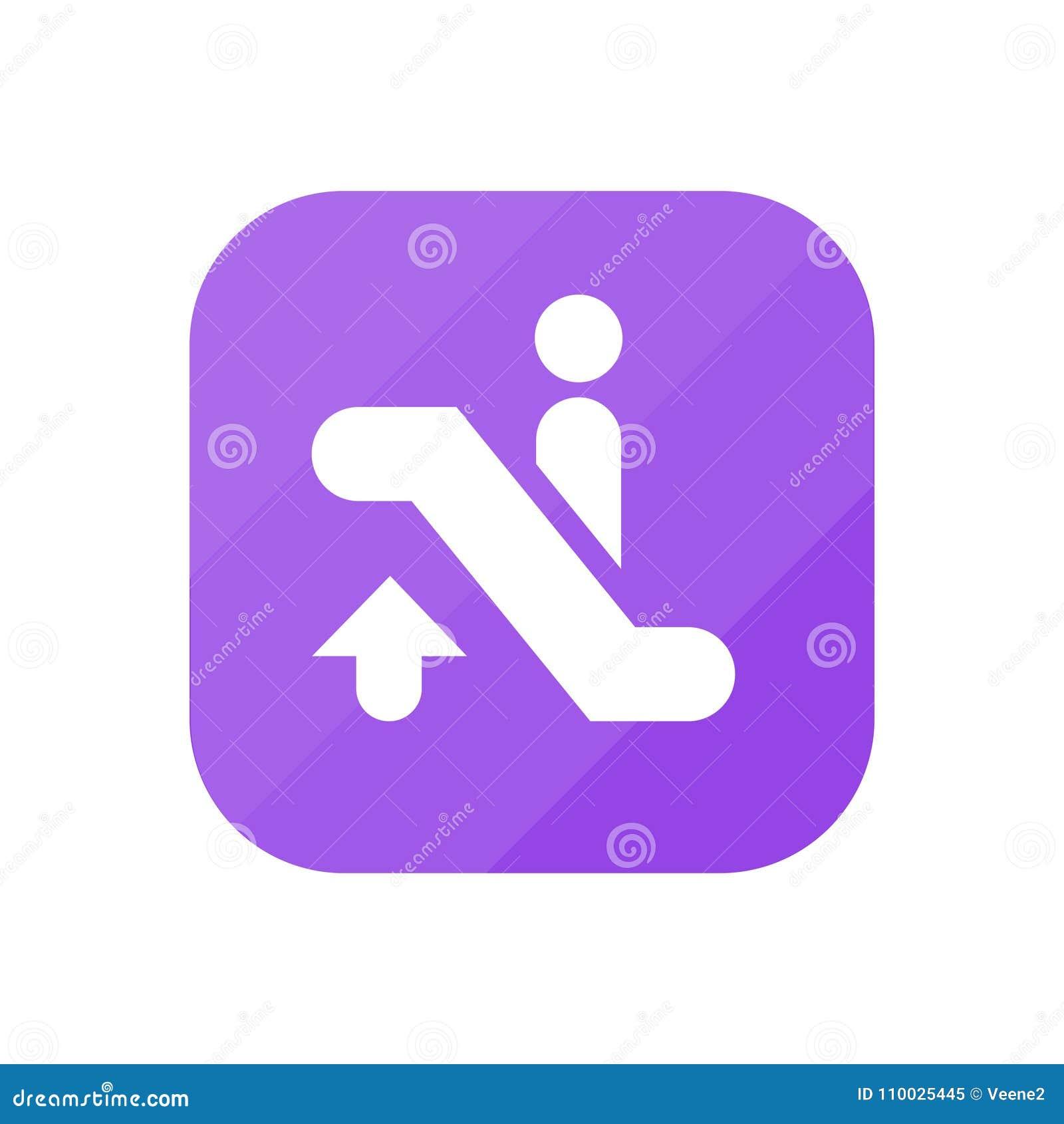 Roltrap omhoog - App Pictogram