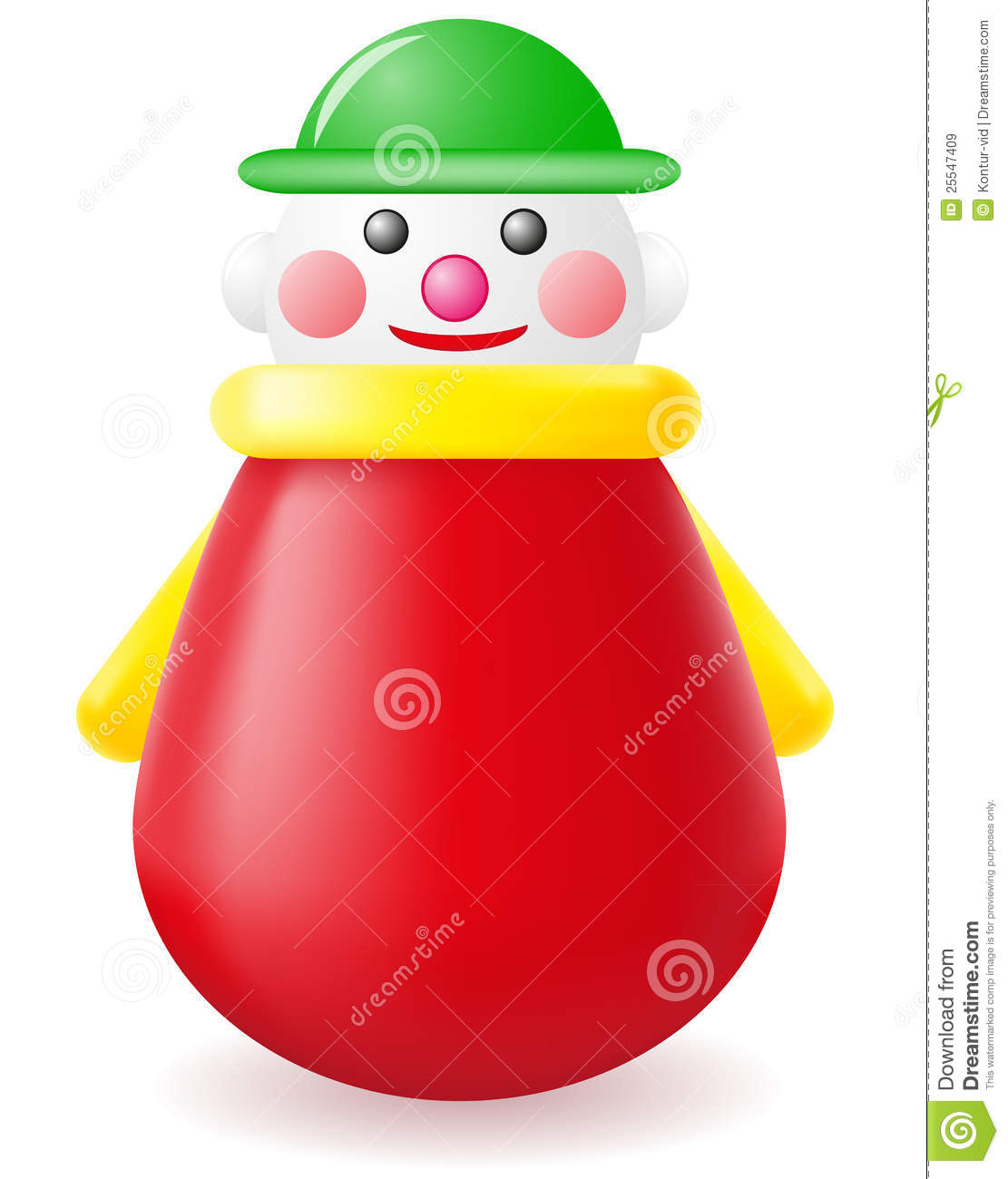 Roly-poly Doll Toy Vector Illustration Royalty Free Stock Images ...