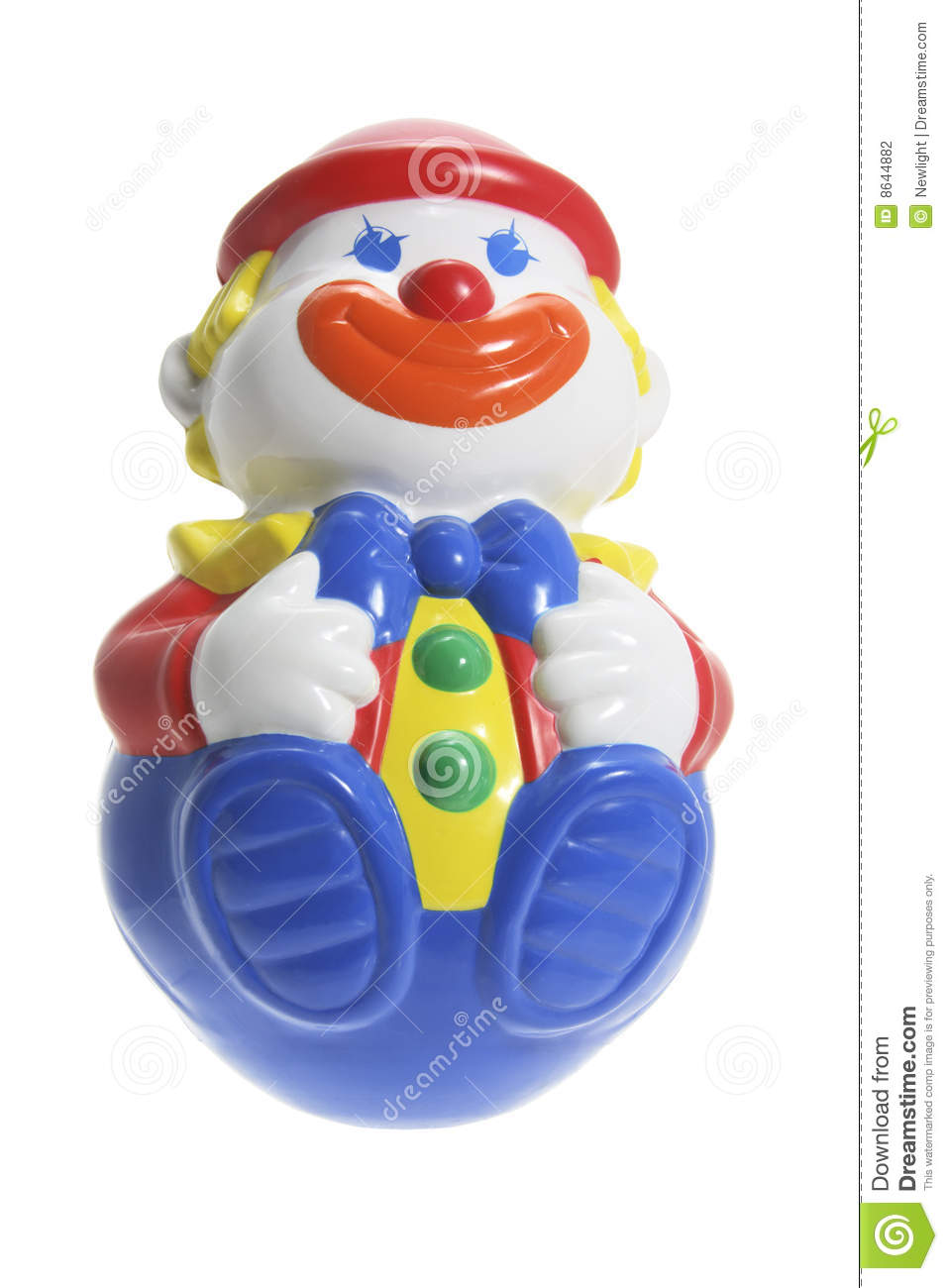Roly poly toy clown stock photography image 8644882