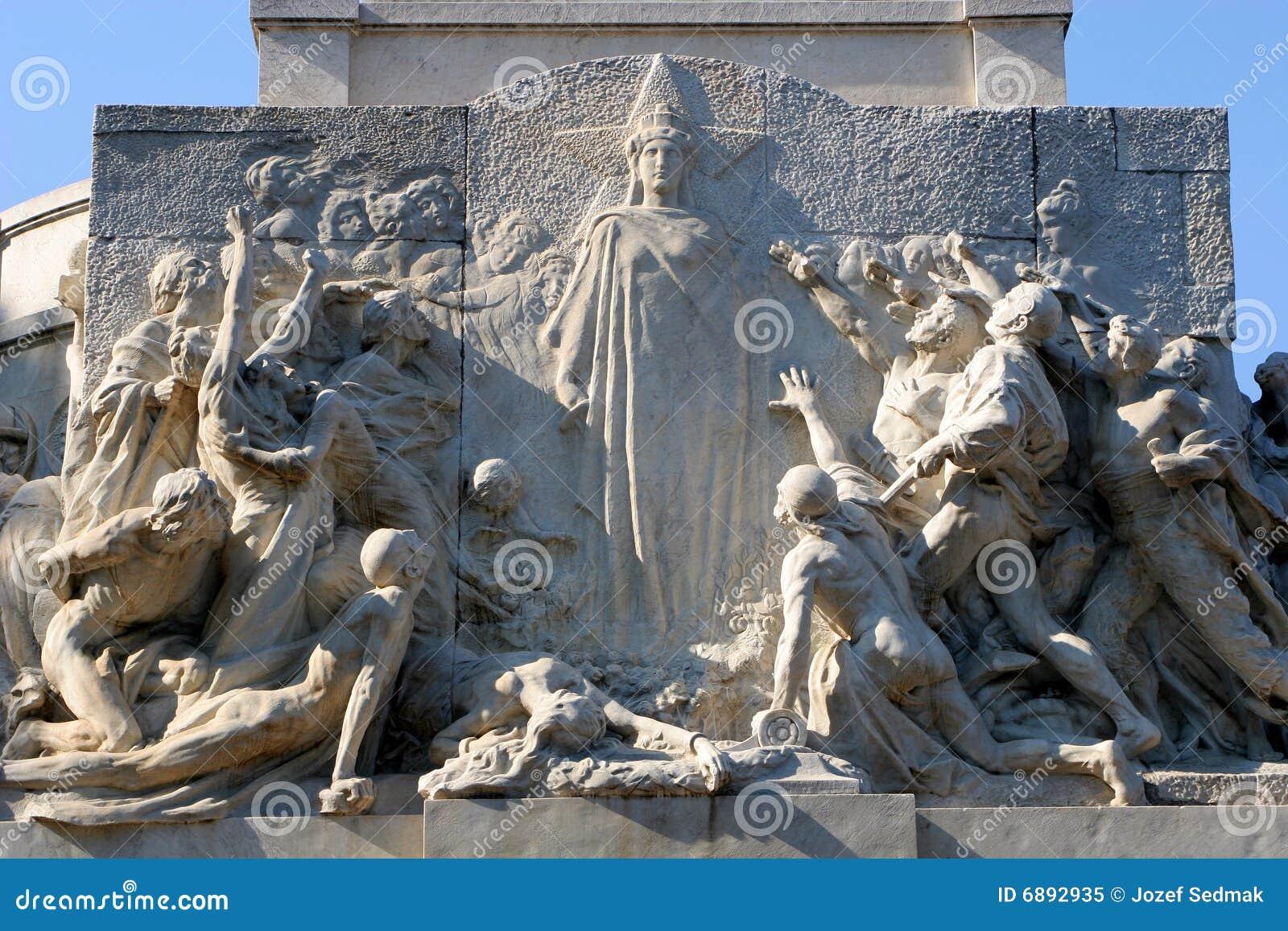 Rom - Entlastung Vom Denkmal Zu Giuseppe Mazzini Stockbild - Bild ...