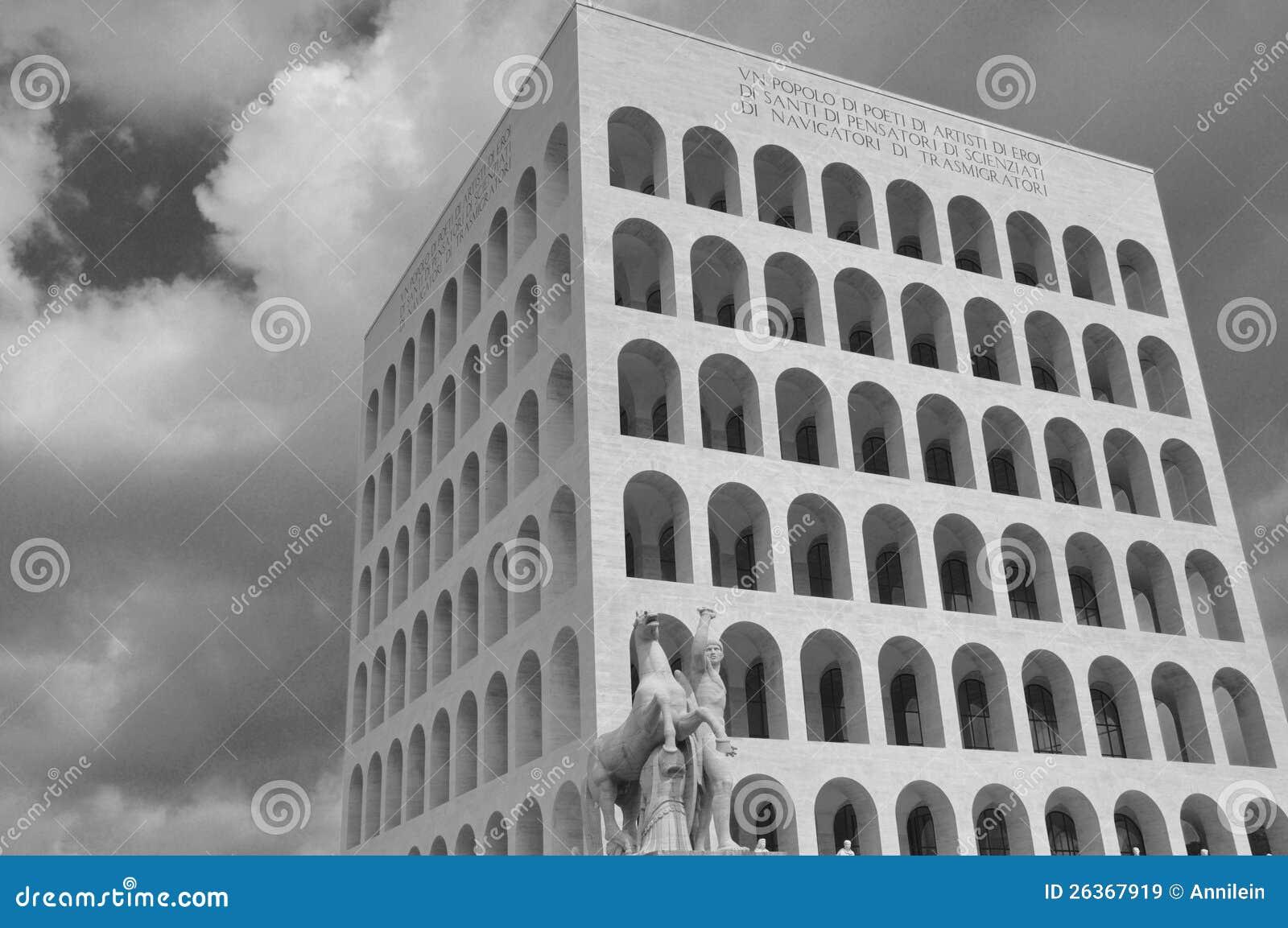 Rom, Italien, EUR, quadratisches Colosseum