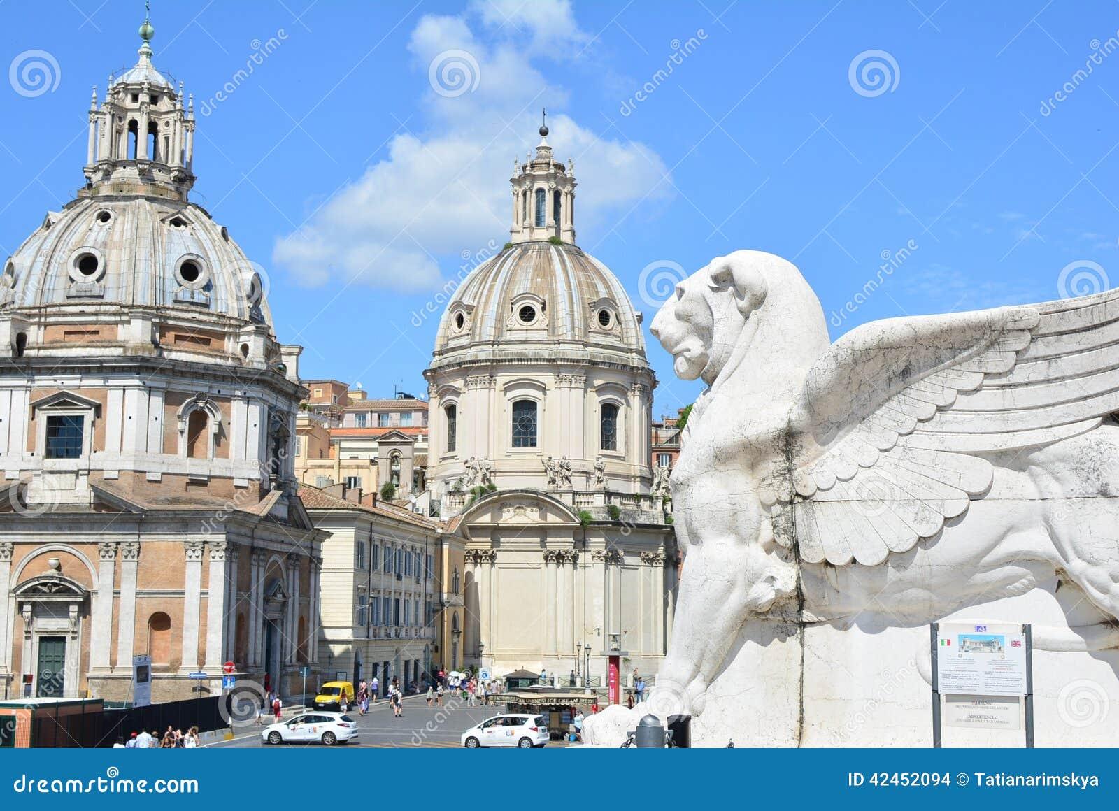 ROM, ITALIEN - 29. Juni 2014: Ansicht des Marktplatzes Venezi