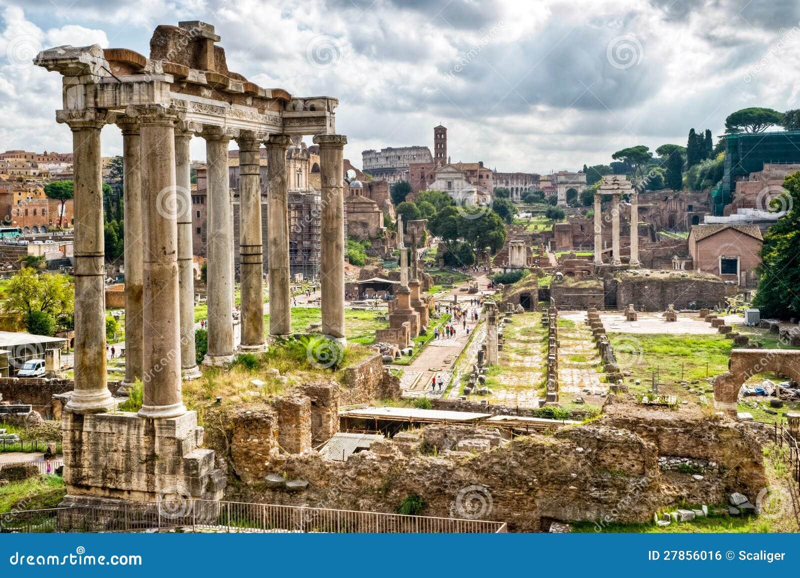 Romańska dawność: Widok Romański Forum