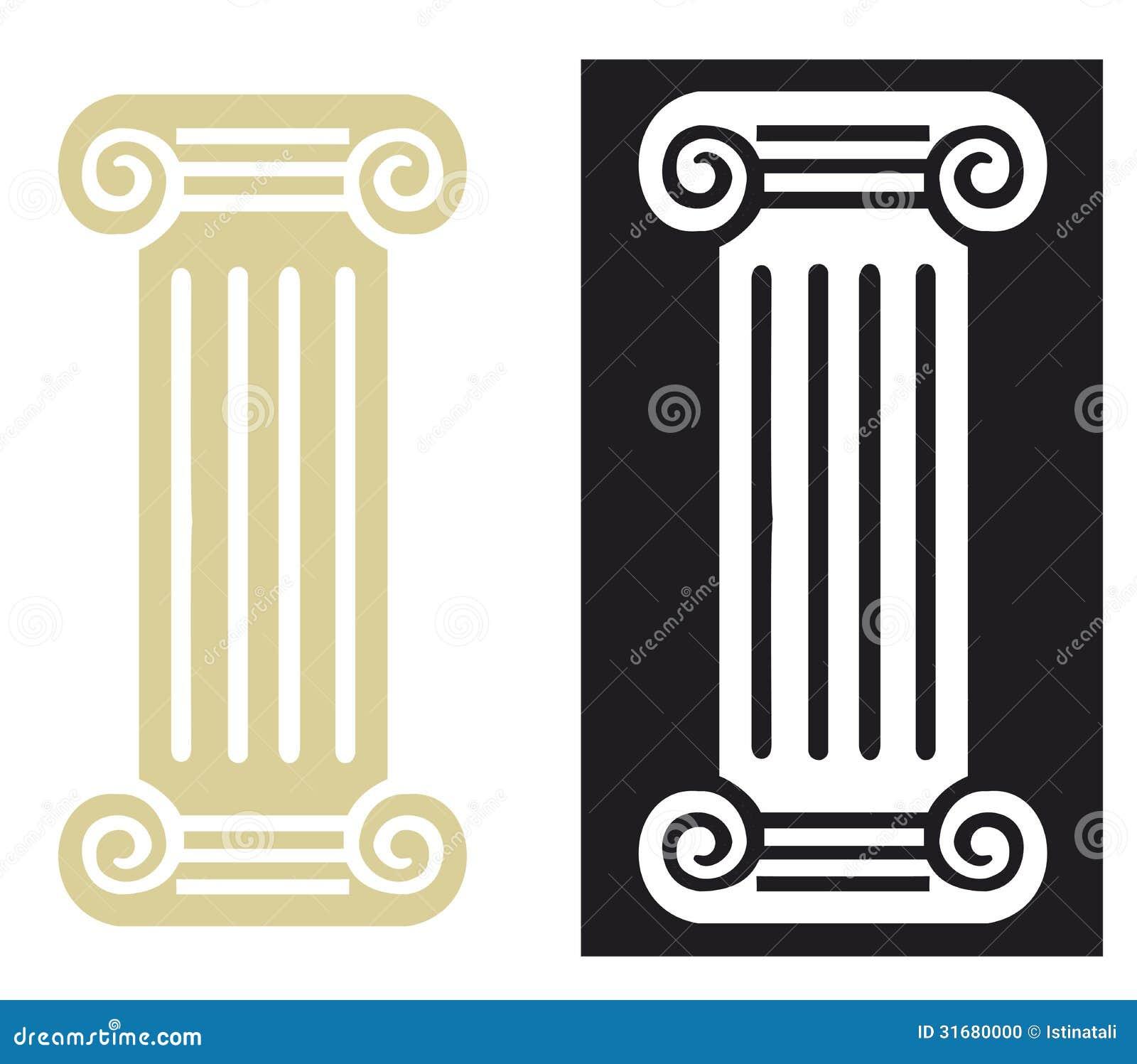 Romańska kolumna w wektorze
