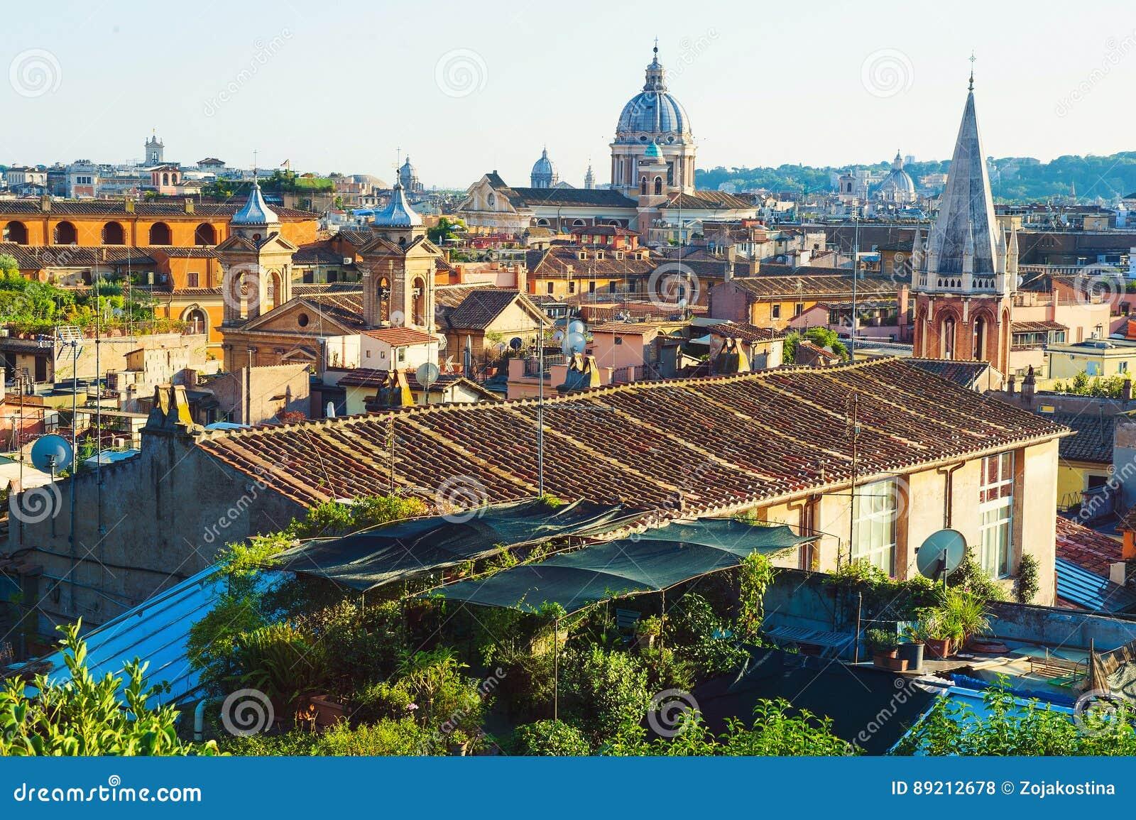 Roma De La Terraza De Pincio Foto De Archivo Imagen De