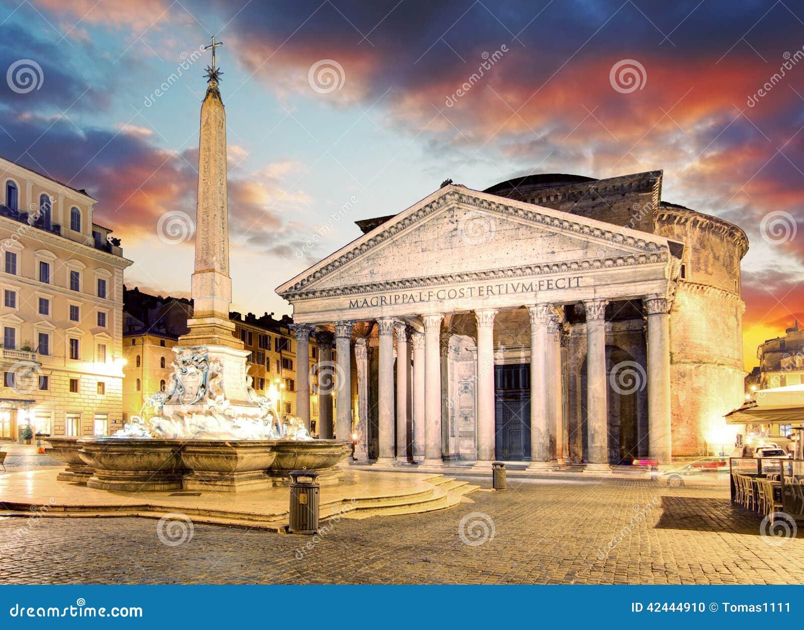 Roma - fuente del della Rotonda de la plaza y del panteón