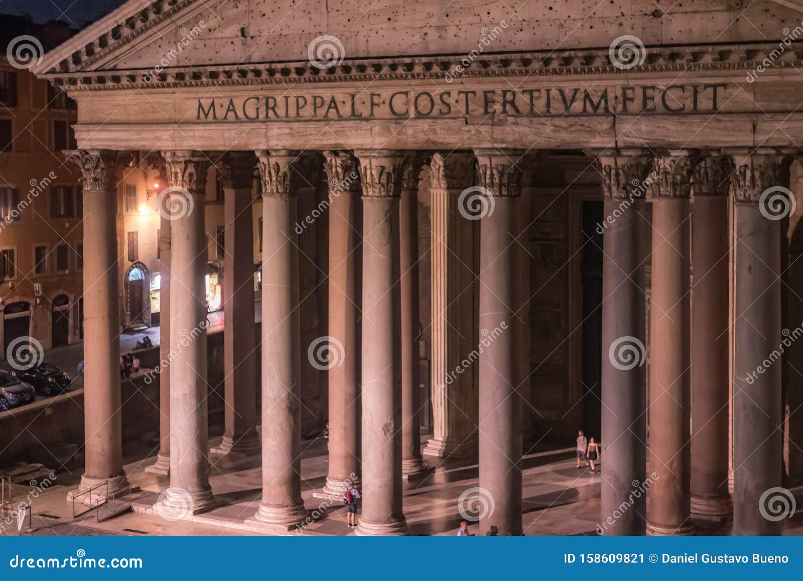 Roma Italia 16 De Julio De 2019 El Panteã N Es Un Famoso Monumento De La Antigua Cultura Romana El Templo De Todos Los Dioses Foto Editorial Imagen De Monumento Romana 158609821