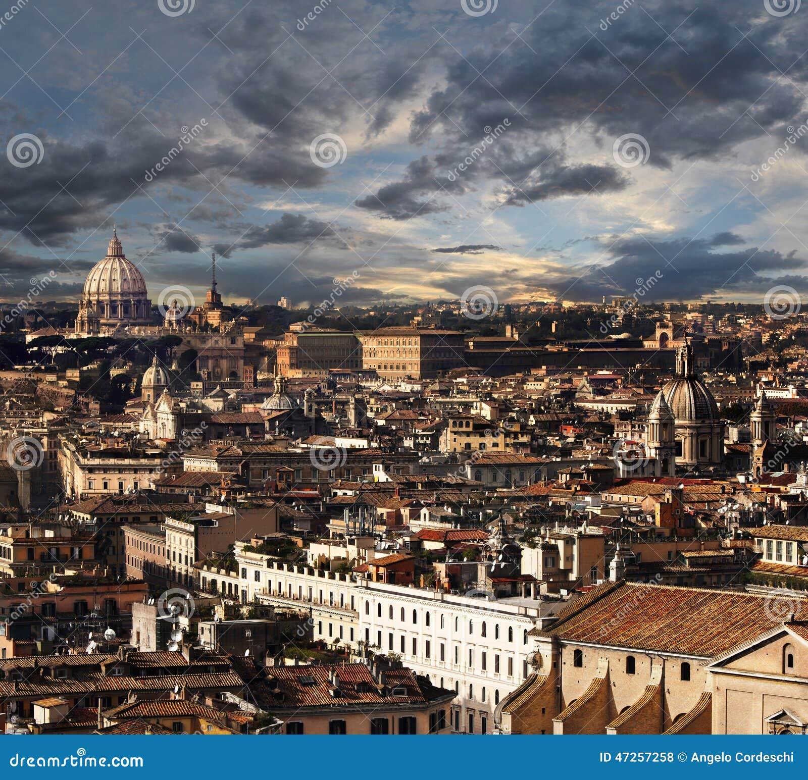 Roma, paisaje del panorama de la visión aérea