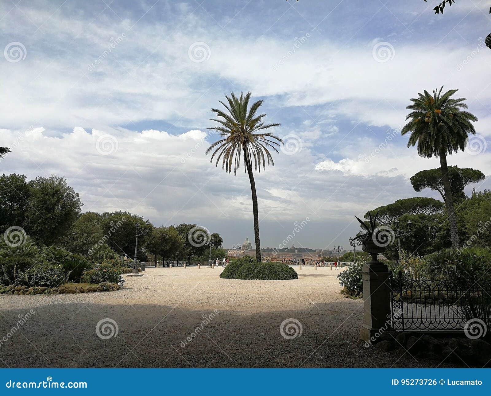 Roma Terrazza Del Pincio Foto De Archivo Imagen De Vía