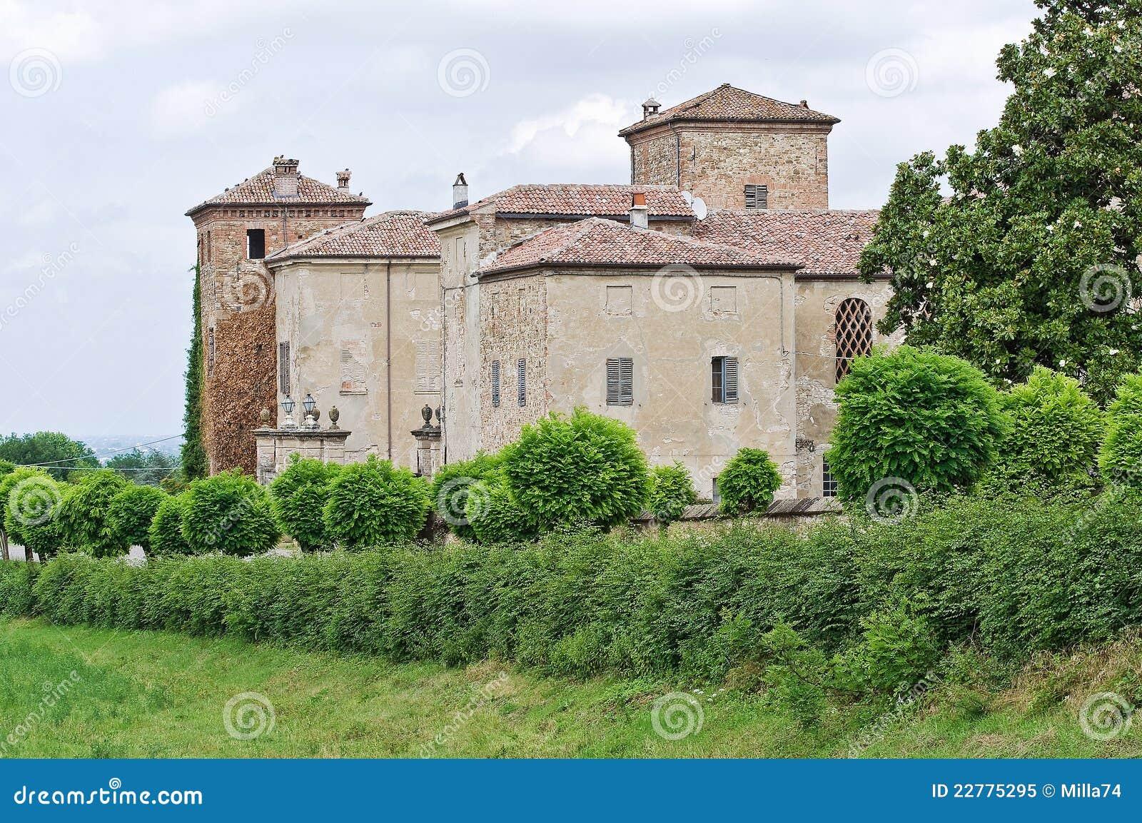 Romagna της Αιμιλία Ιταλία κάστρων agazzano