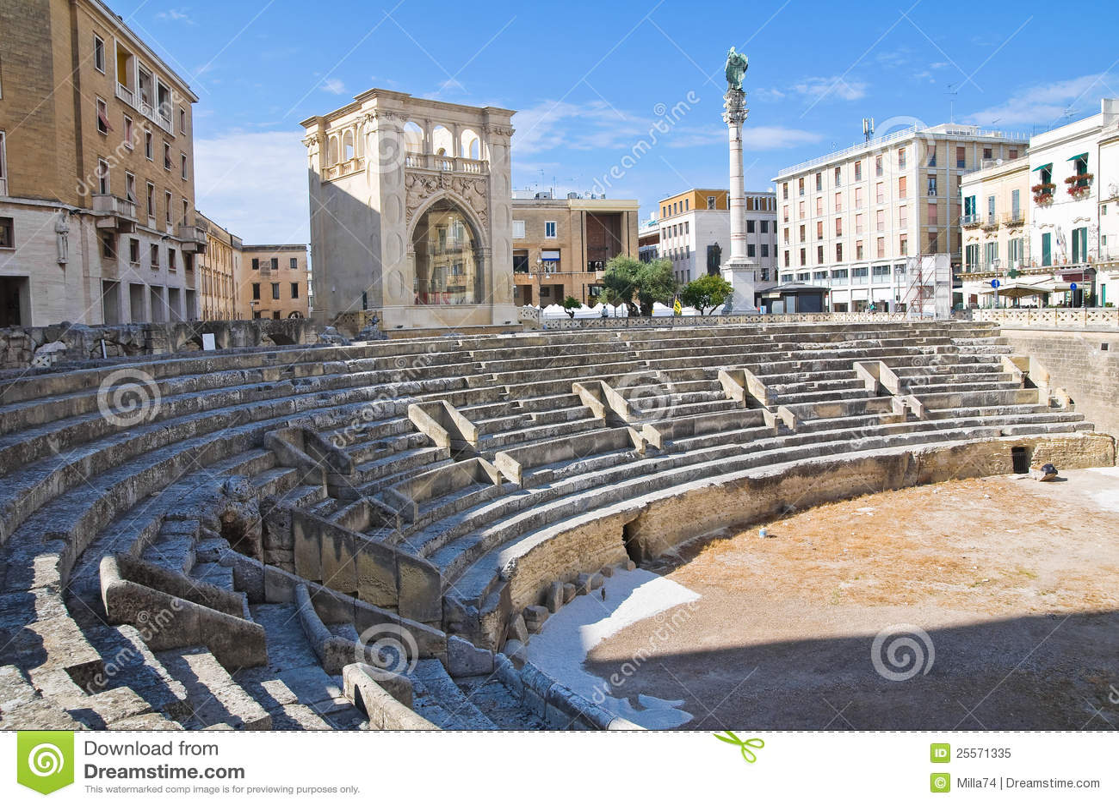 Roman Amphitheatre. Lecce. Puglia. Itália.
