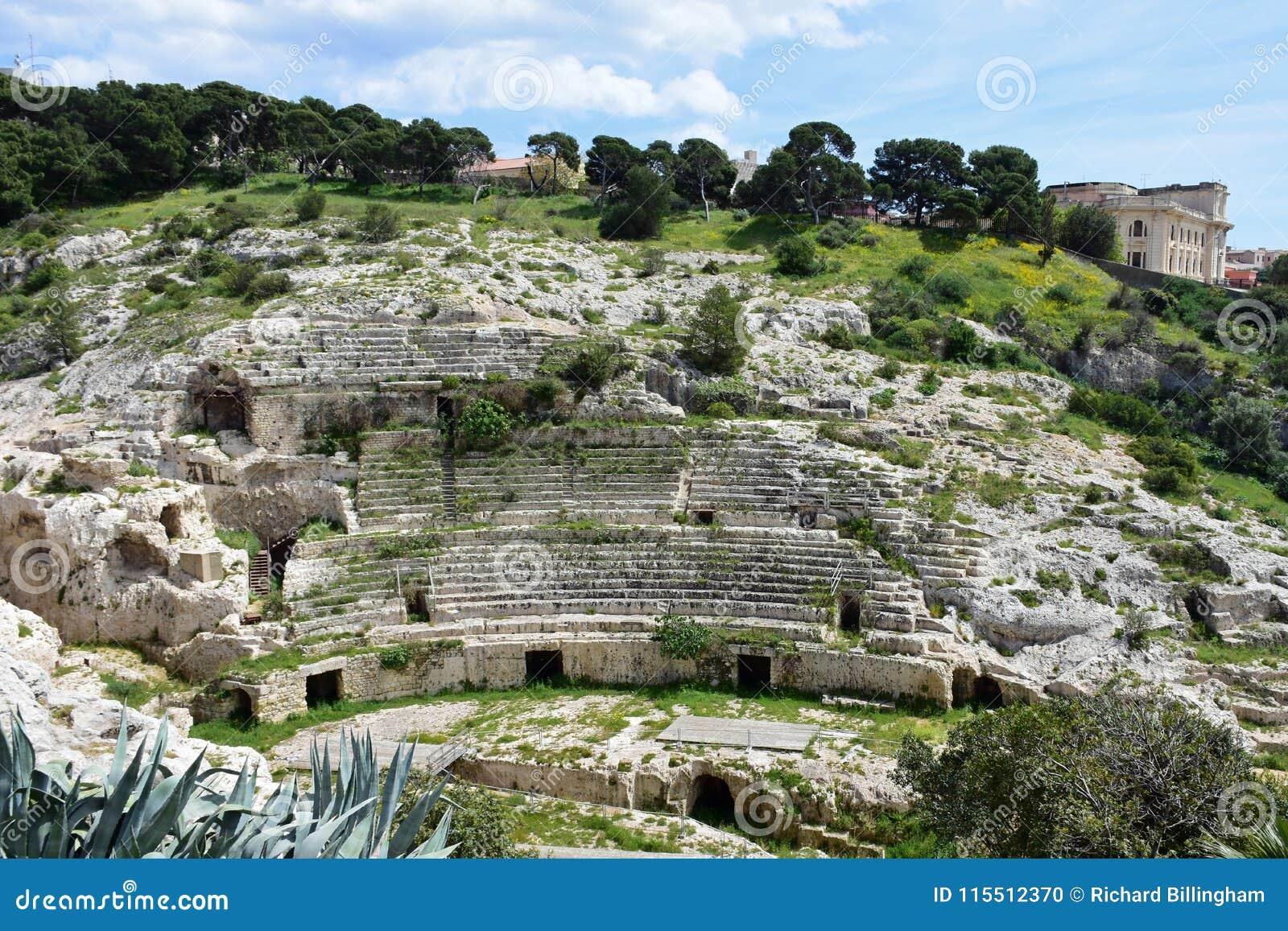 Roman Ampitheatre Cagliari, Sardinia, Italien