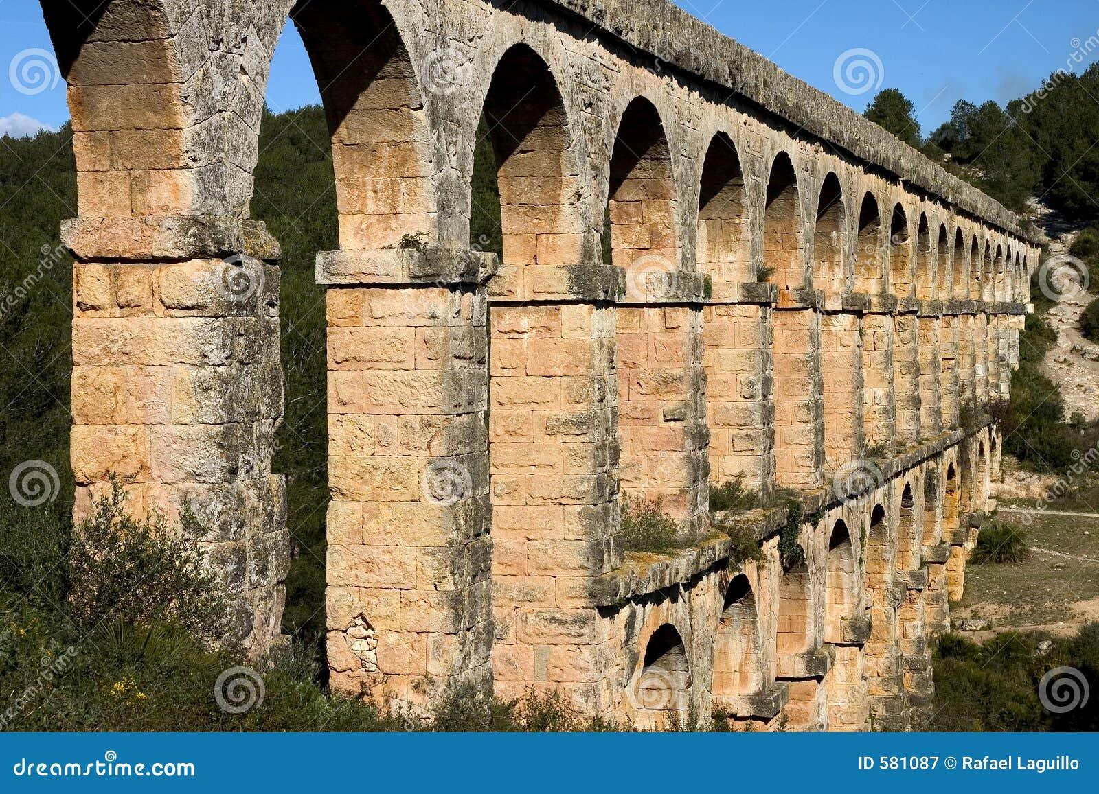 Roman aqueduct stock image. Image of engineering ...