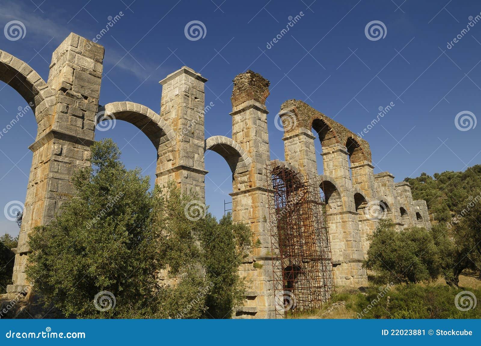 Roman Aqueduct Greece Stock Image Image 22023881