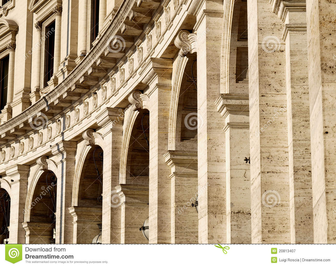 Roman Architecture Stock Image Image Of Marble Italy