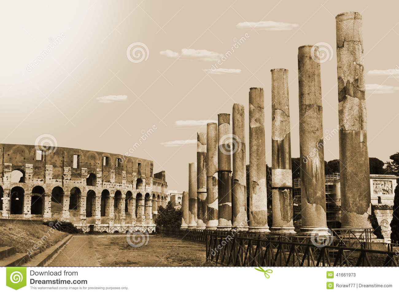 Roman Architecture Stock Photo Image 41661973