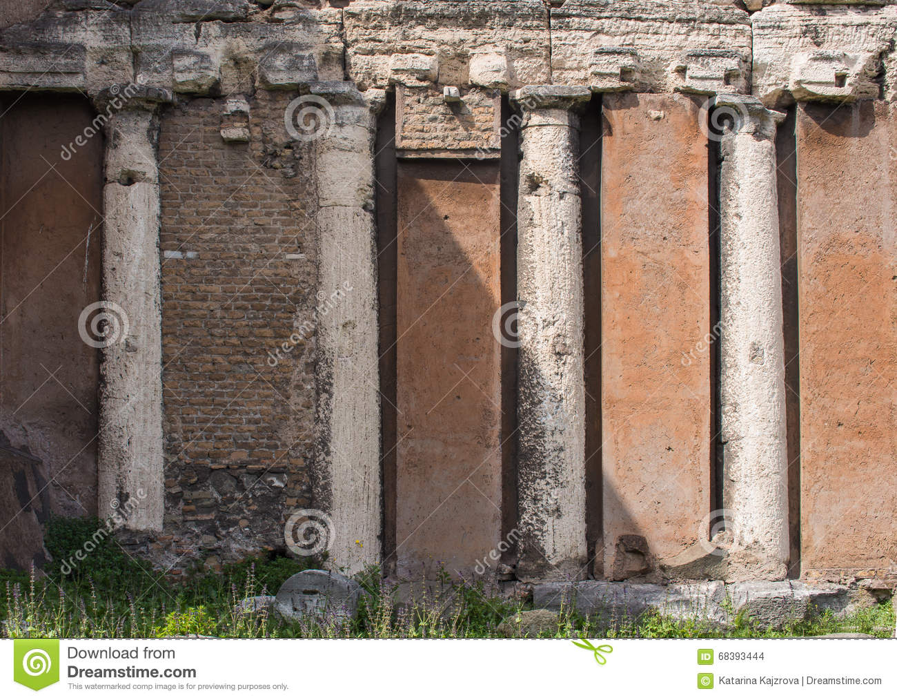 Roman Architecture Columns roman architecture, columns and facade stock photo - image: 68393444