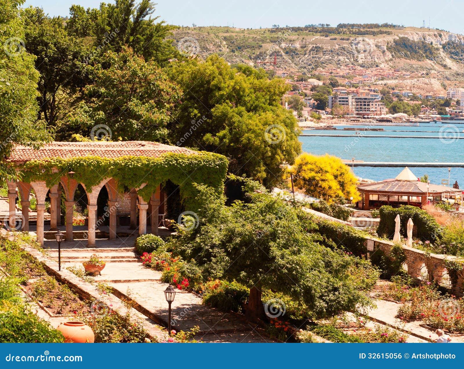 Roman Bath In The Garden Of Balchik Castle Stock Photo - Image of ...