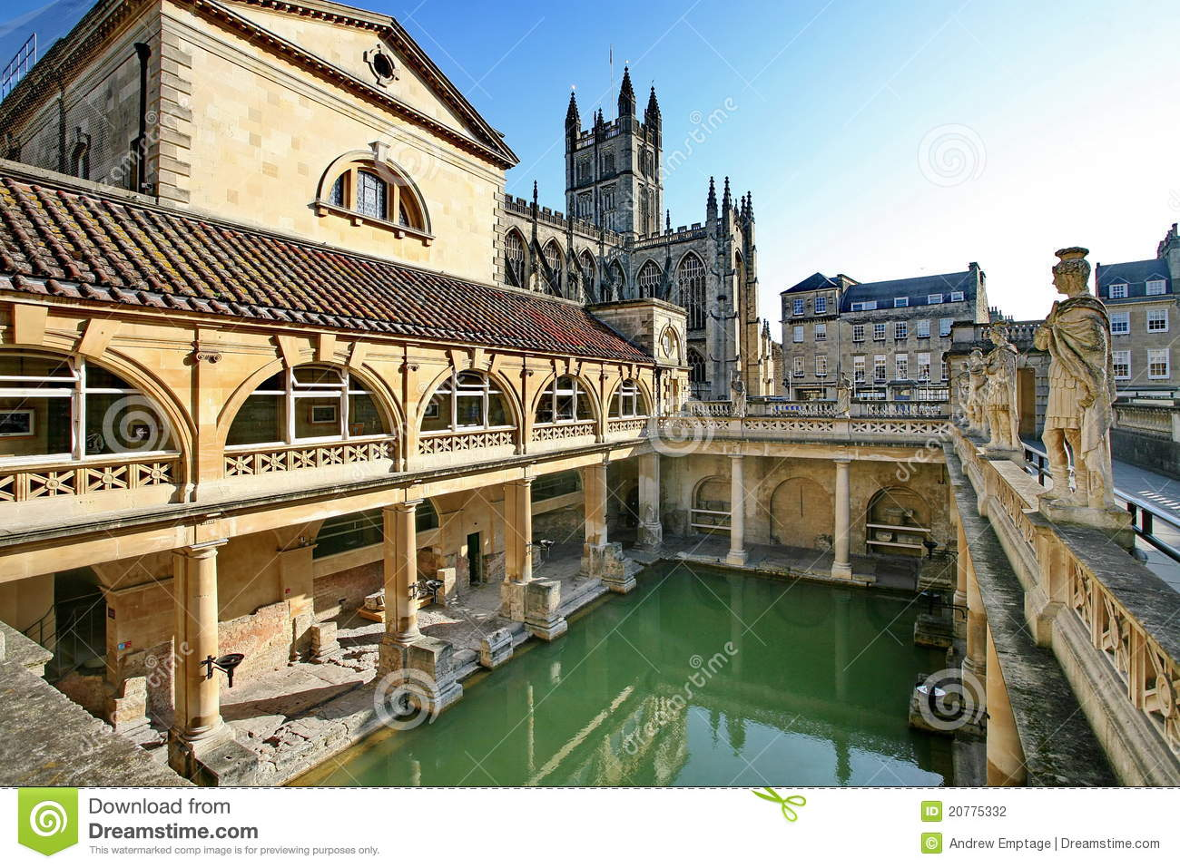 Download Roman Baths In Bath, England Stock Photo - Image of attraction, spring: 20775332