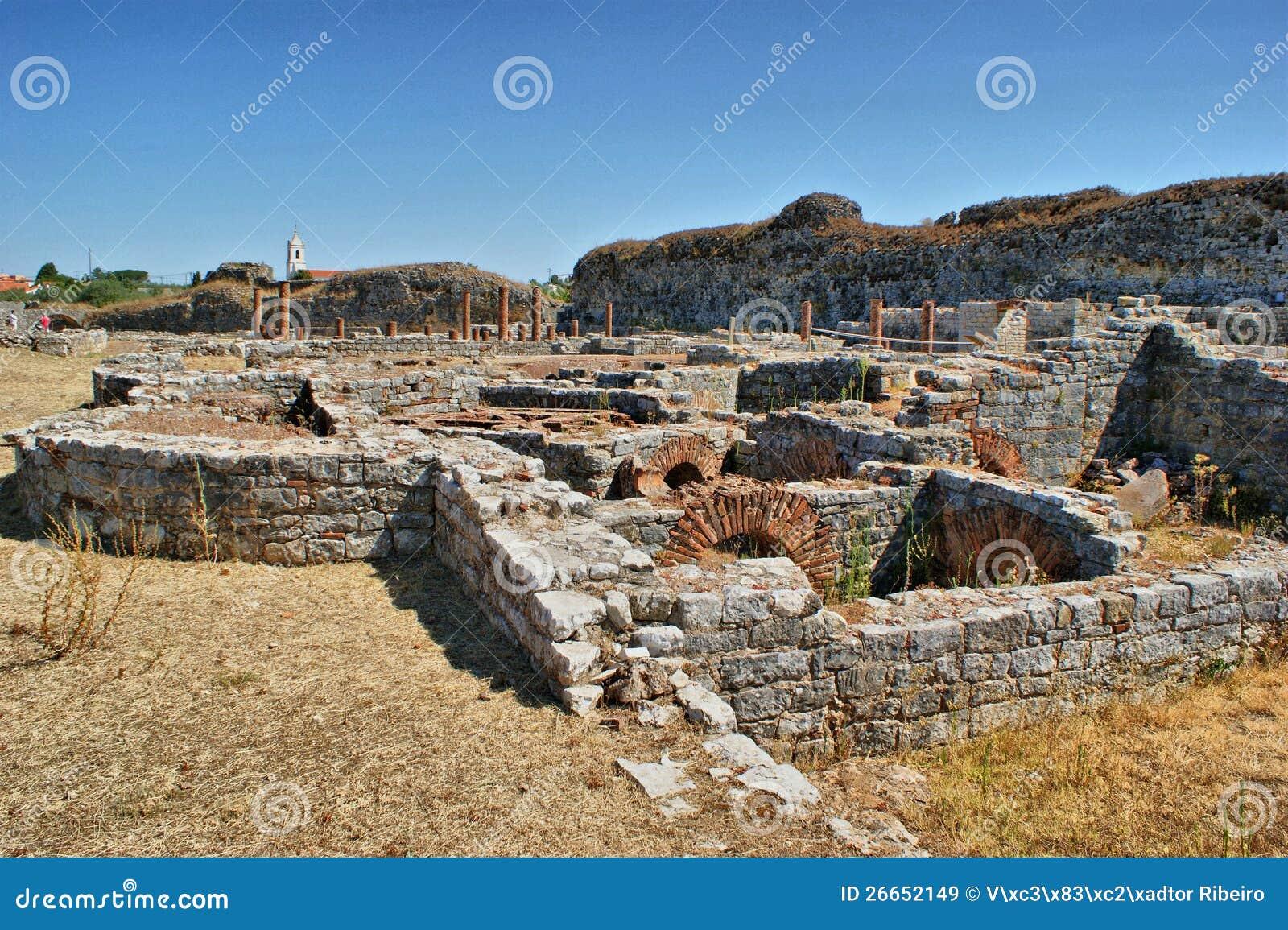 Roman baths ruins of Conimbriga
