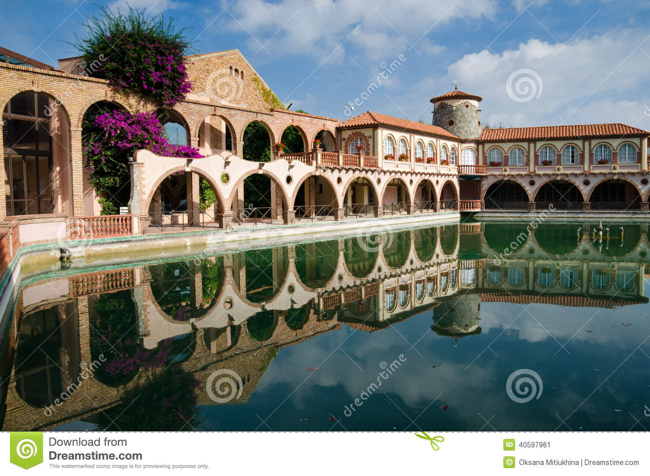 Roman baths of the spanish spa resort stock image image of pool roman 40597961 for How to say swimming pool in spanish