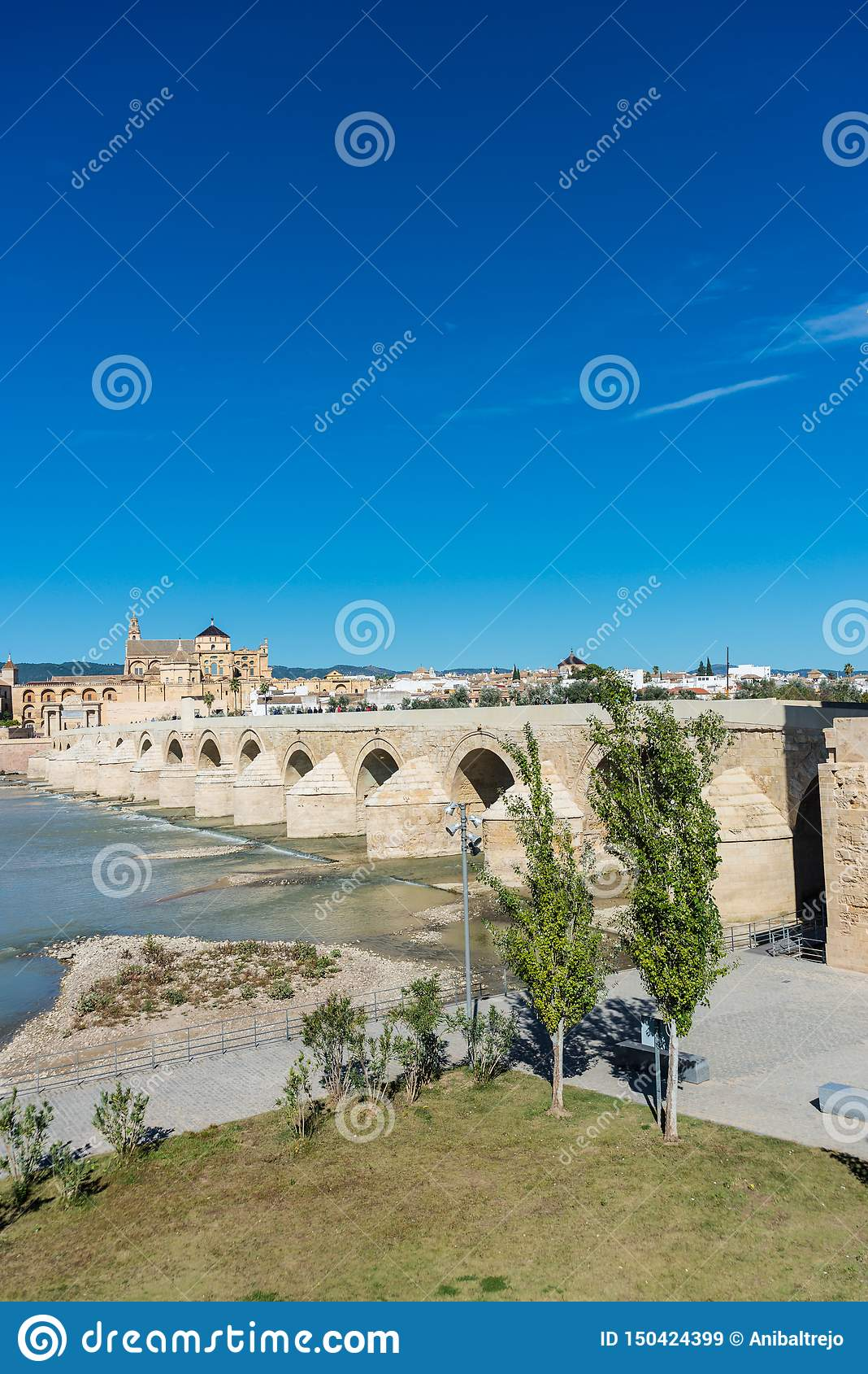 Roman bridge in Cordoba, Andalusia, southern Spain