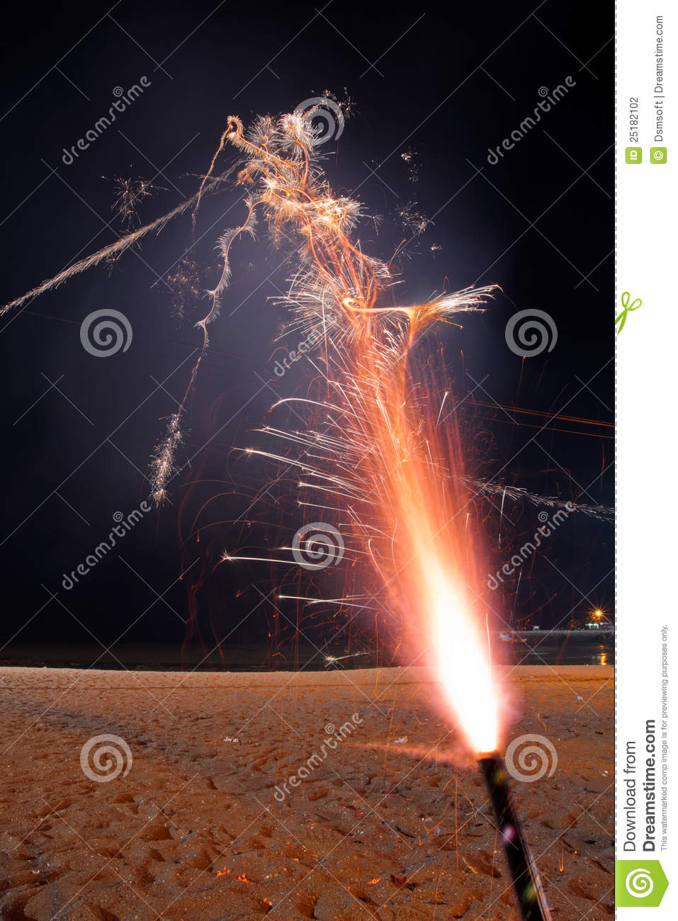 Roman Candle Fireworks Stock Photography - Image: 25182102