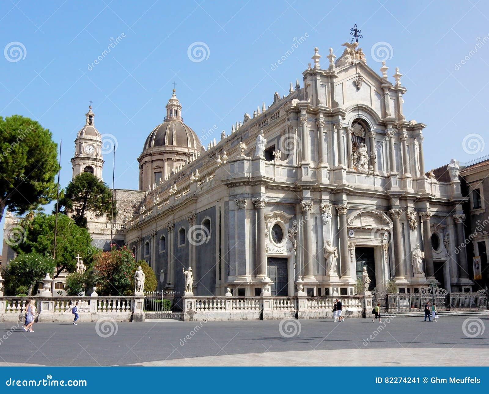 roman catholic cathedral of saint agatha – catania - sicily