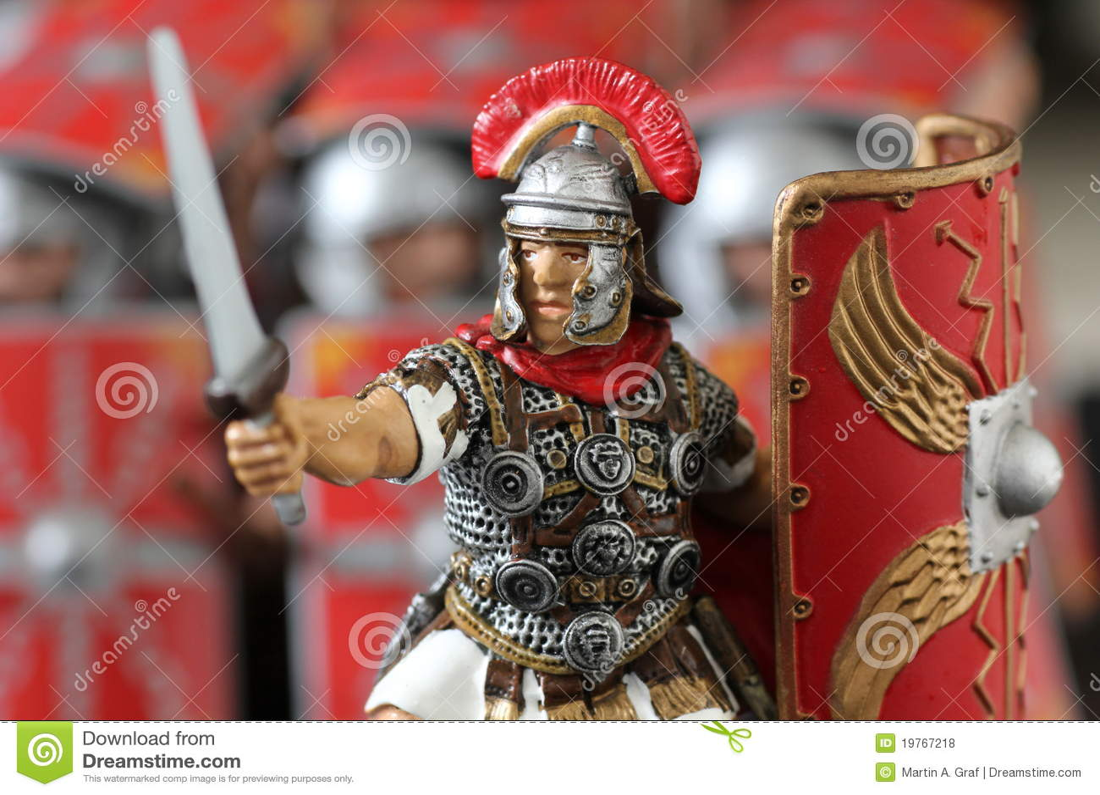Roman Centurion Toy Figure Royalty Free Stock Photos