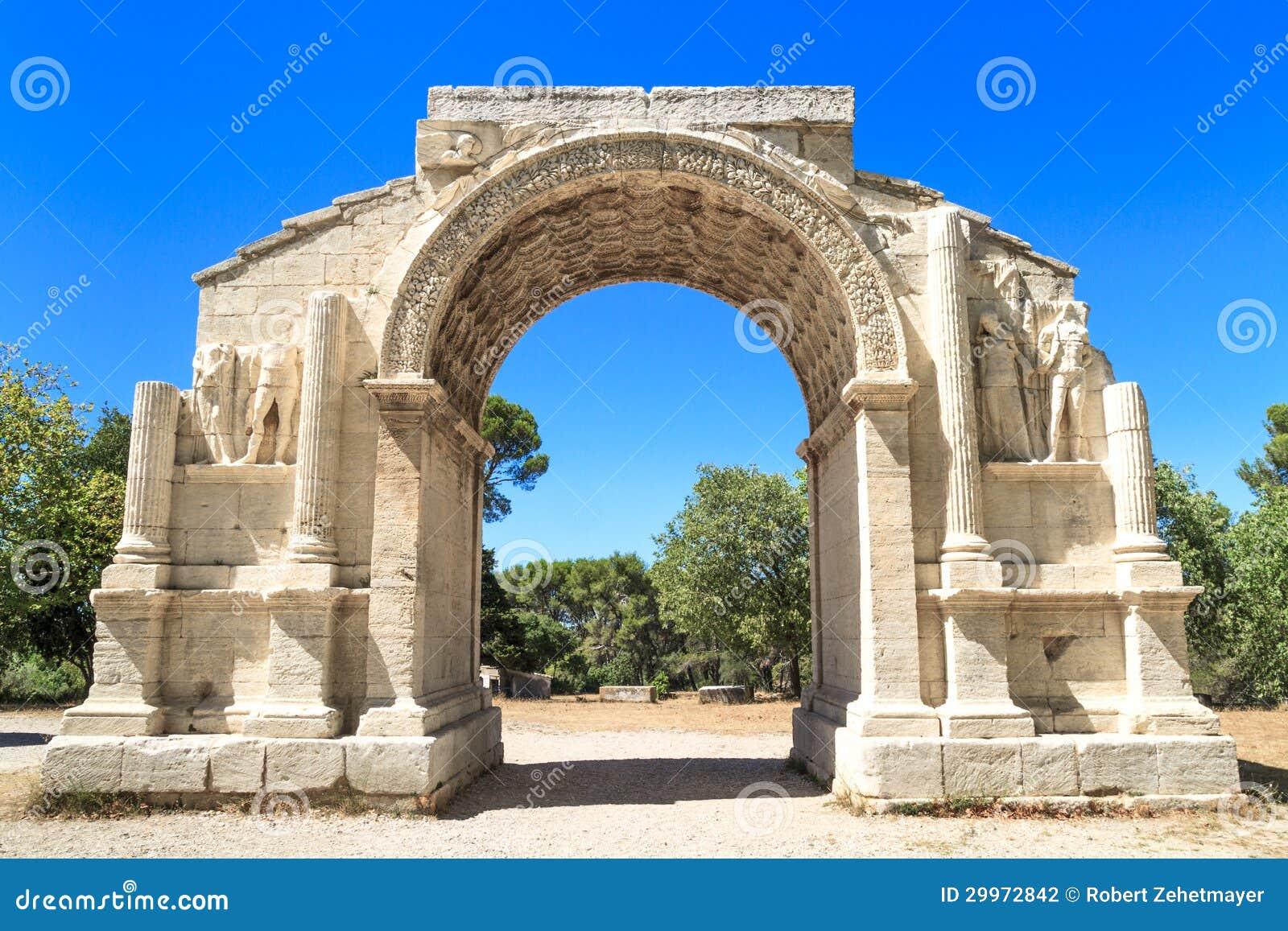 roman city of glanum triumphal arch saint remy de provence fr stock photo image 29972842. Black Bedroom Furniture Sets. Home Design Ideas