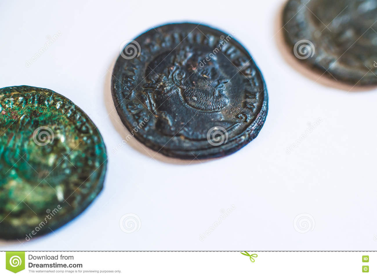 Roman Coins  Old Coins  Rare  Historical  Stock Image - Image of
