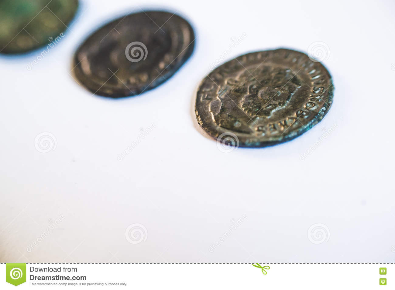 Roman Coins  Old Coins  Rare  Historical  Stock Photo - Image of