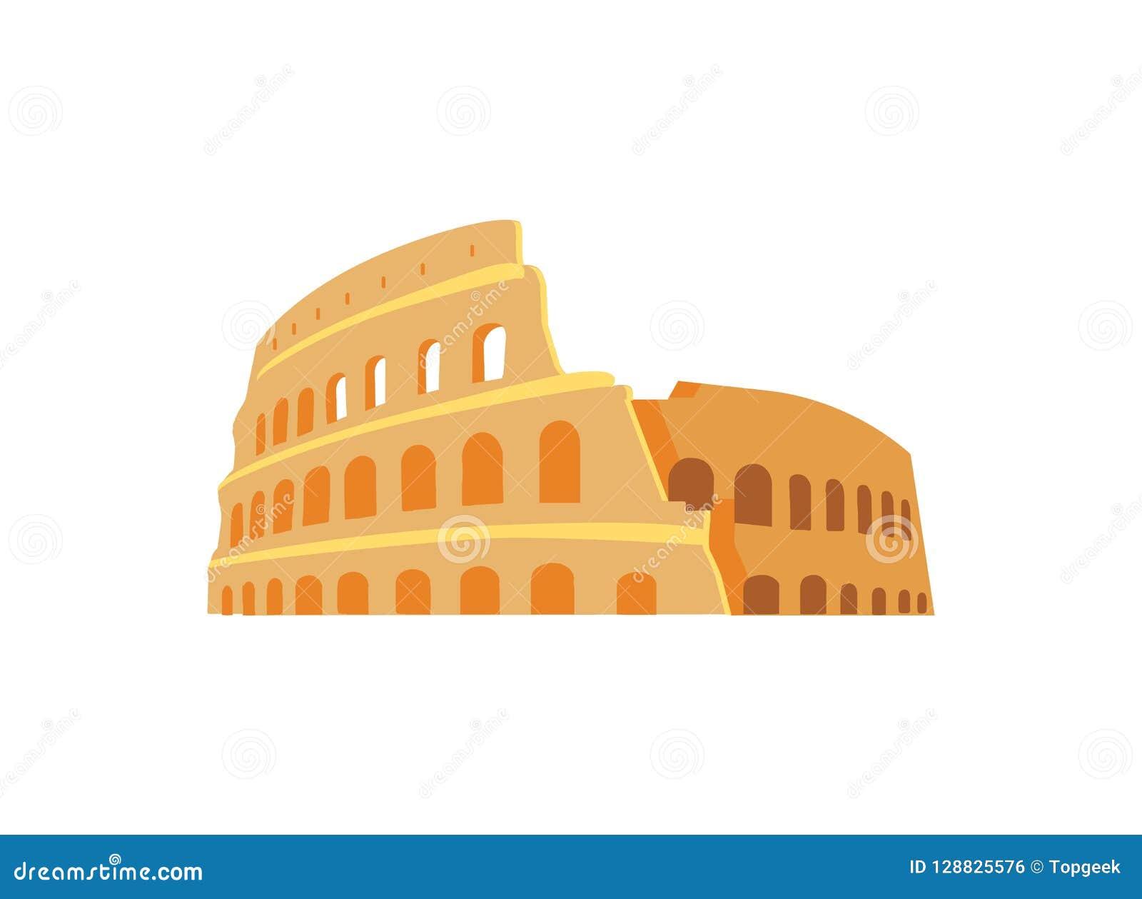 Roman Coliseum Ruins no estilo antigo da arquitetura
