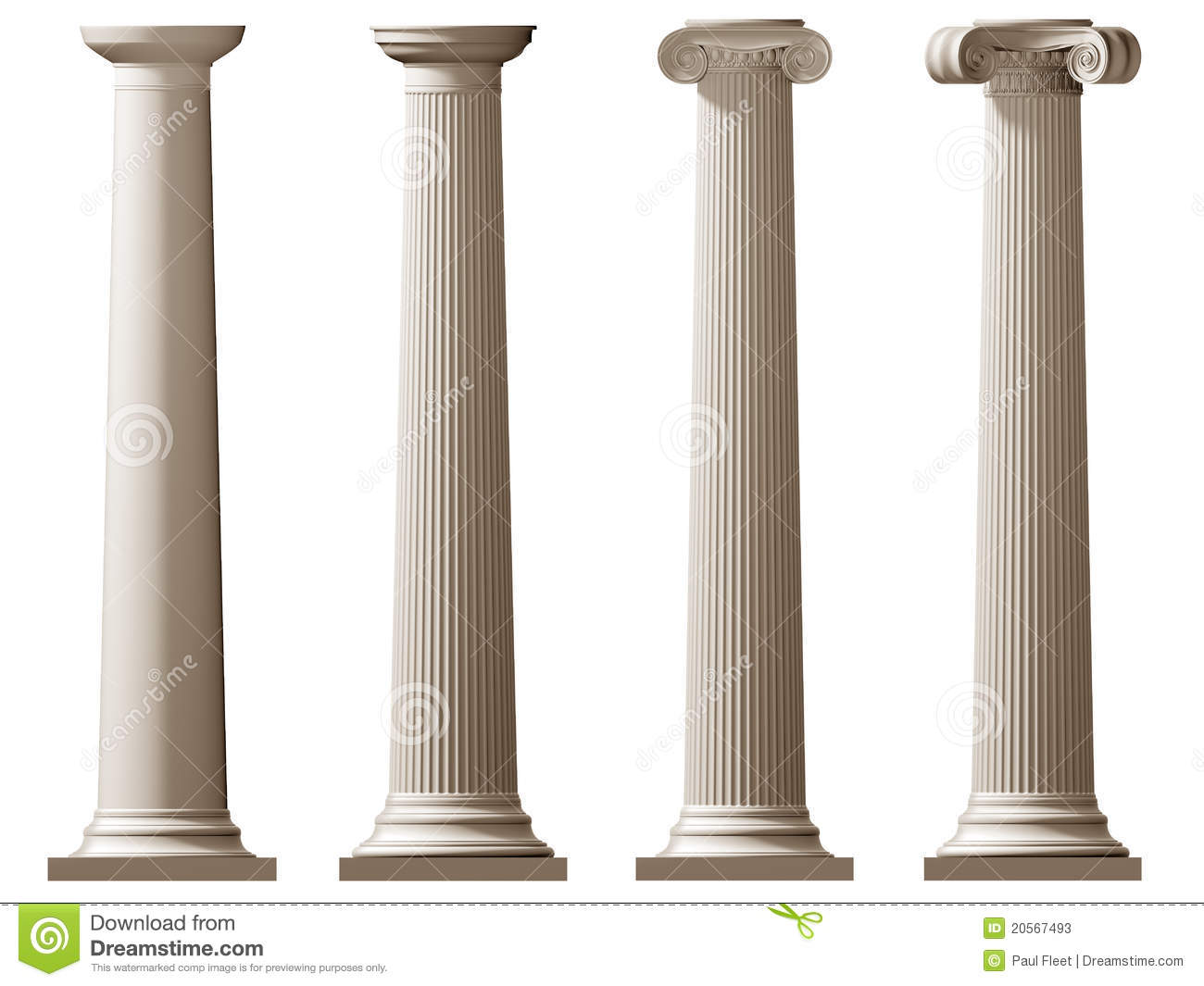 Types Of Roman Columns : Roman doric and ionic columns stock photos image