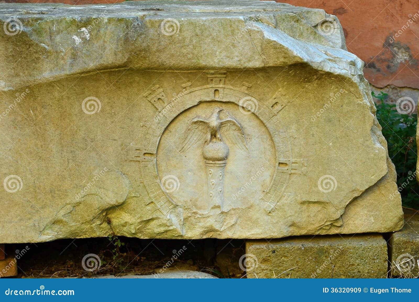 Roman eagle stock image of symbol state rome