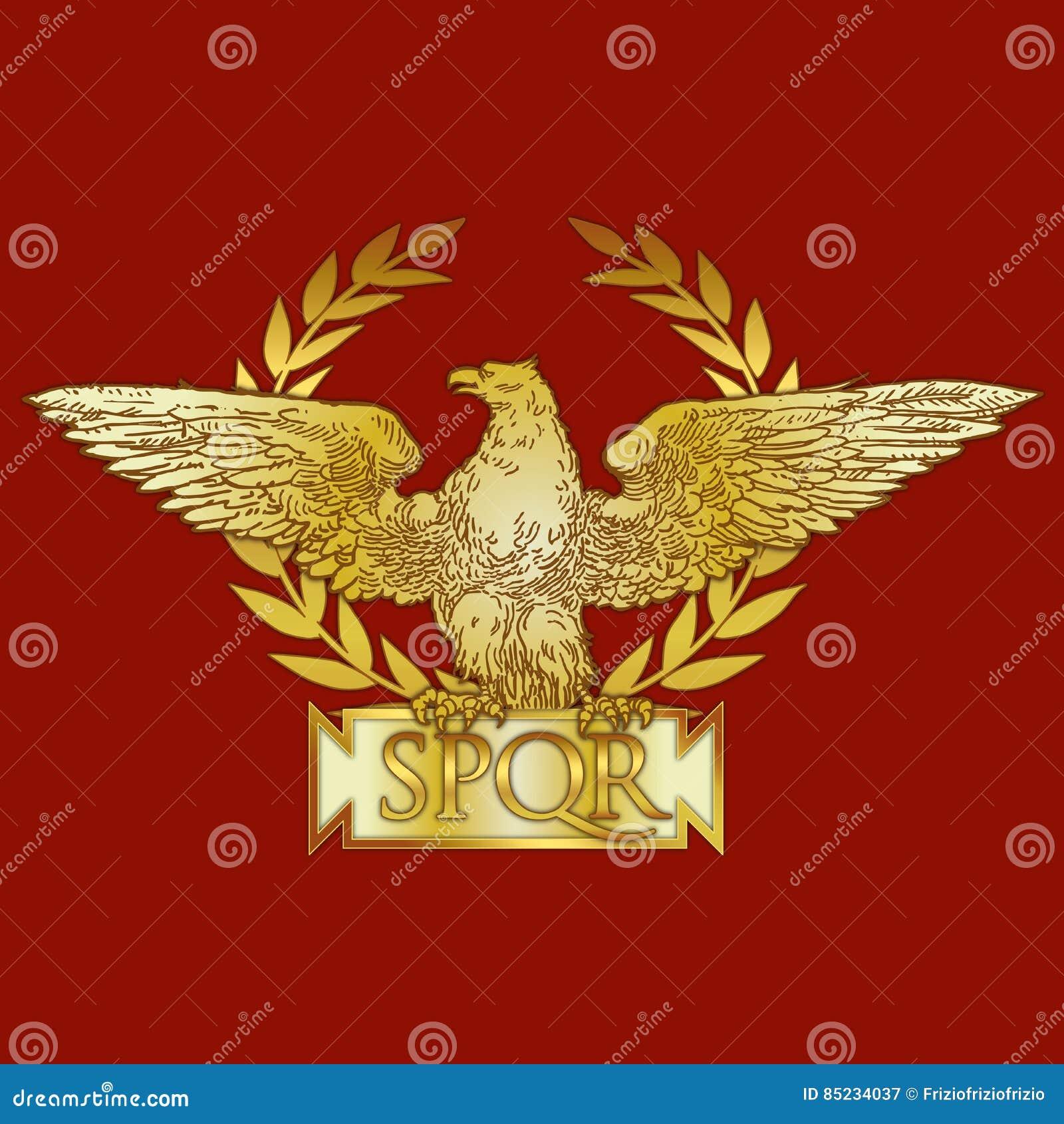 Roman Empire Coat Of Arm Historical Symbol Stock Vector