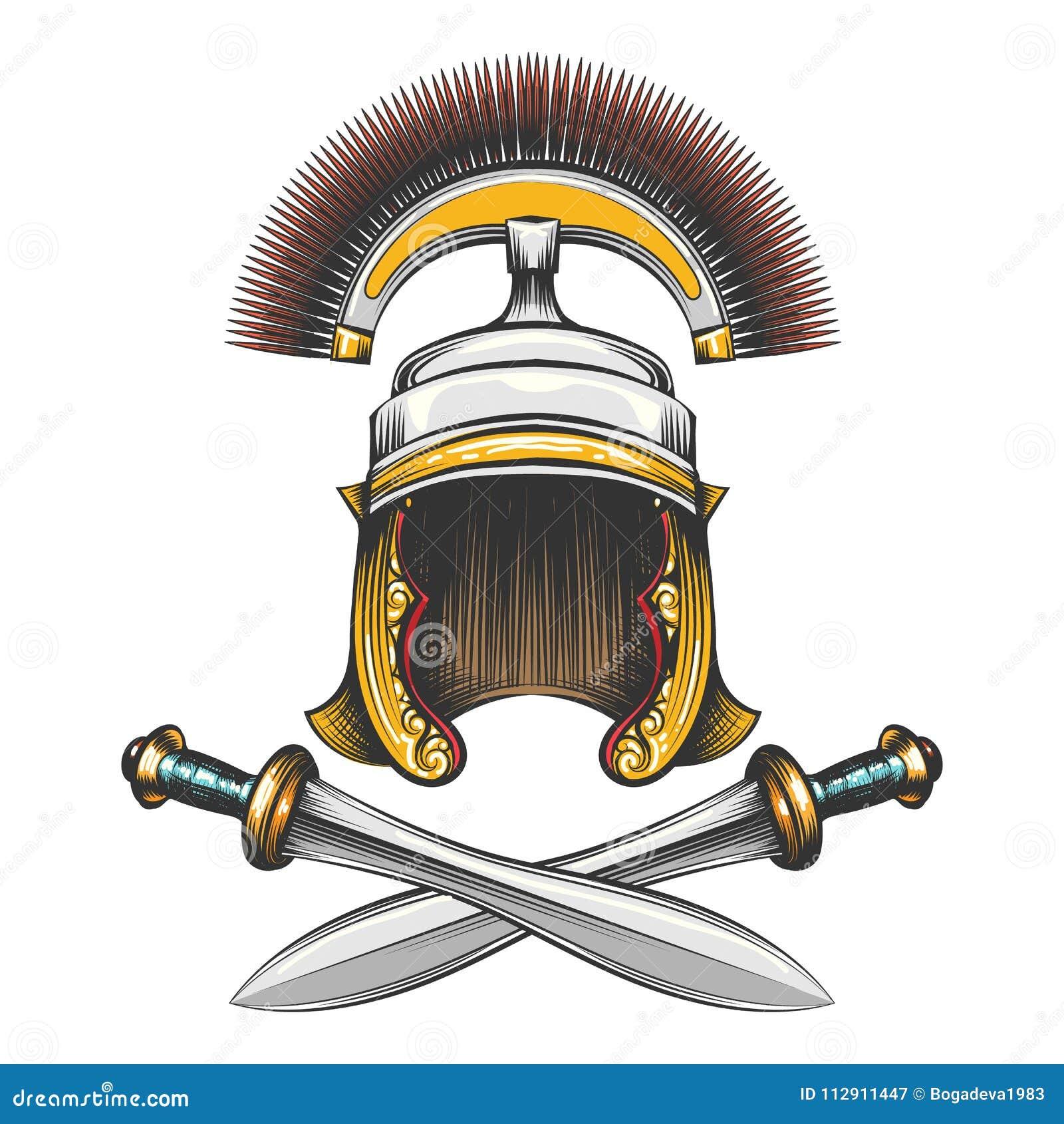 Roman Empire Helmet avec des épées