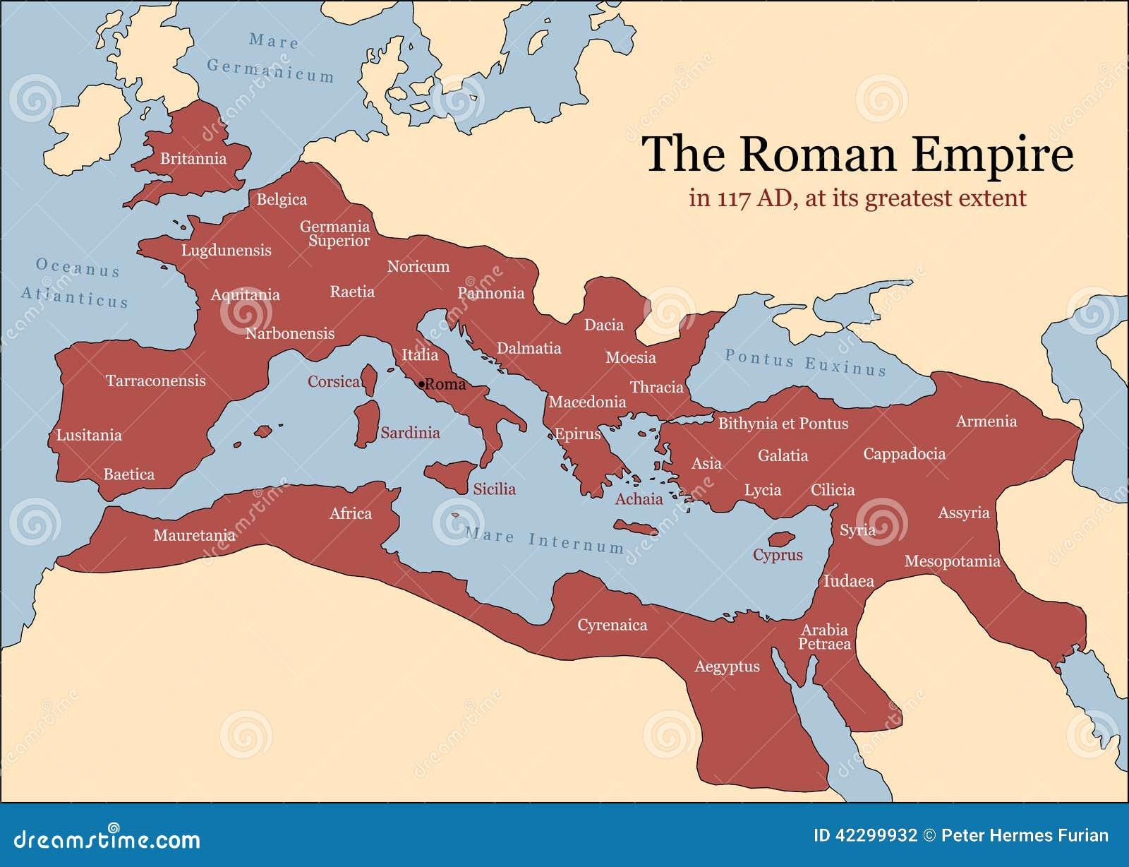 Roman Empire Provinces Stock Vector Image - Map of rome under trajan