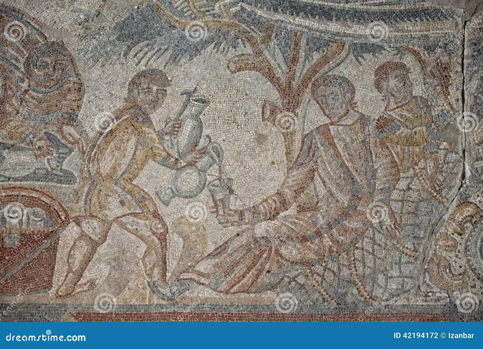 Roman Floor Mosaic Stock Photo Image 42194172