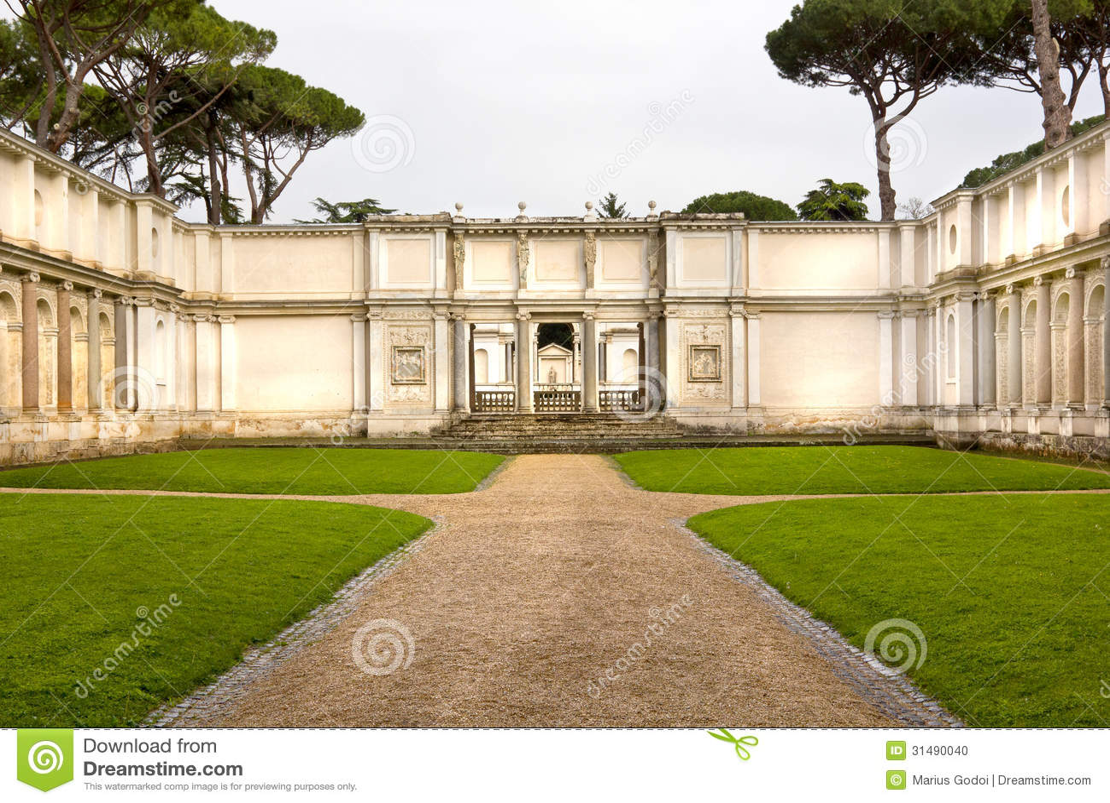 Roman Garden Stock Photo Image 31490040