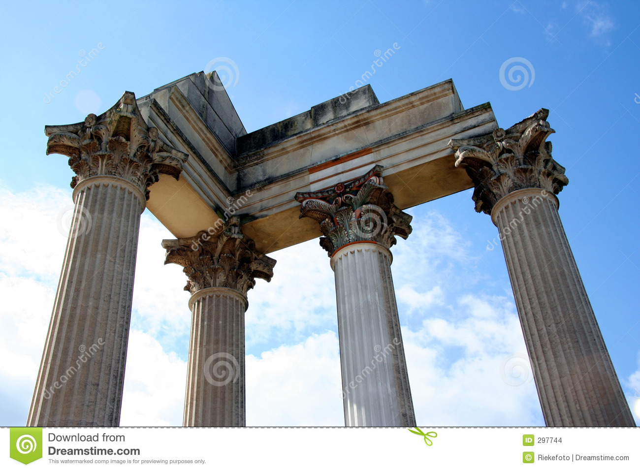 Roman Harbor Temple Stock Images - Image: 297744