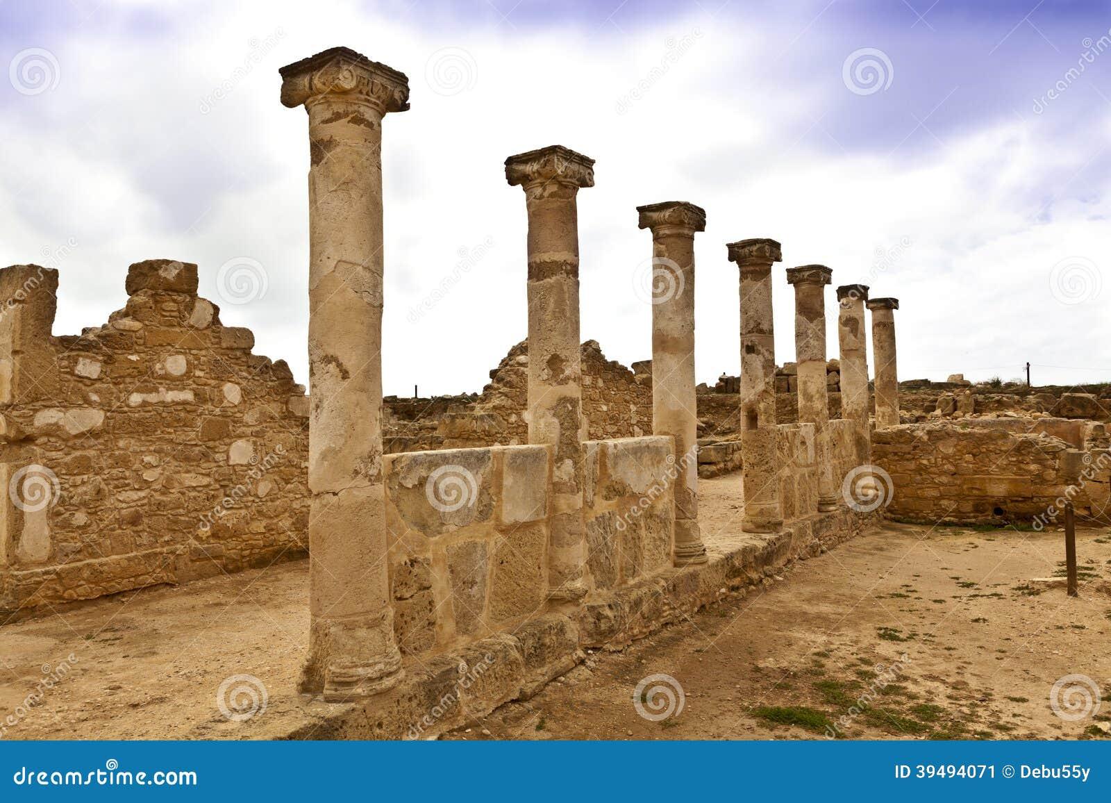 Roman Heritage Site In Paphos, Cyprus. Stock Photo - Image ...