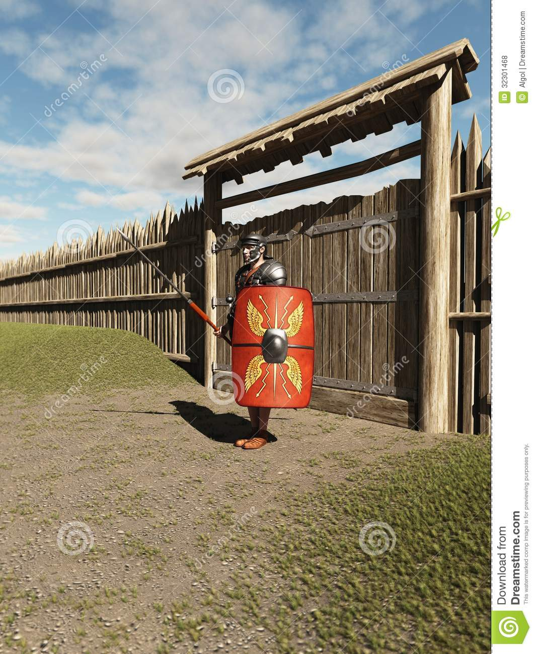 Roman Legionary Fort Guard Royalty Vrije Stock Foto 39 S