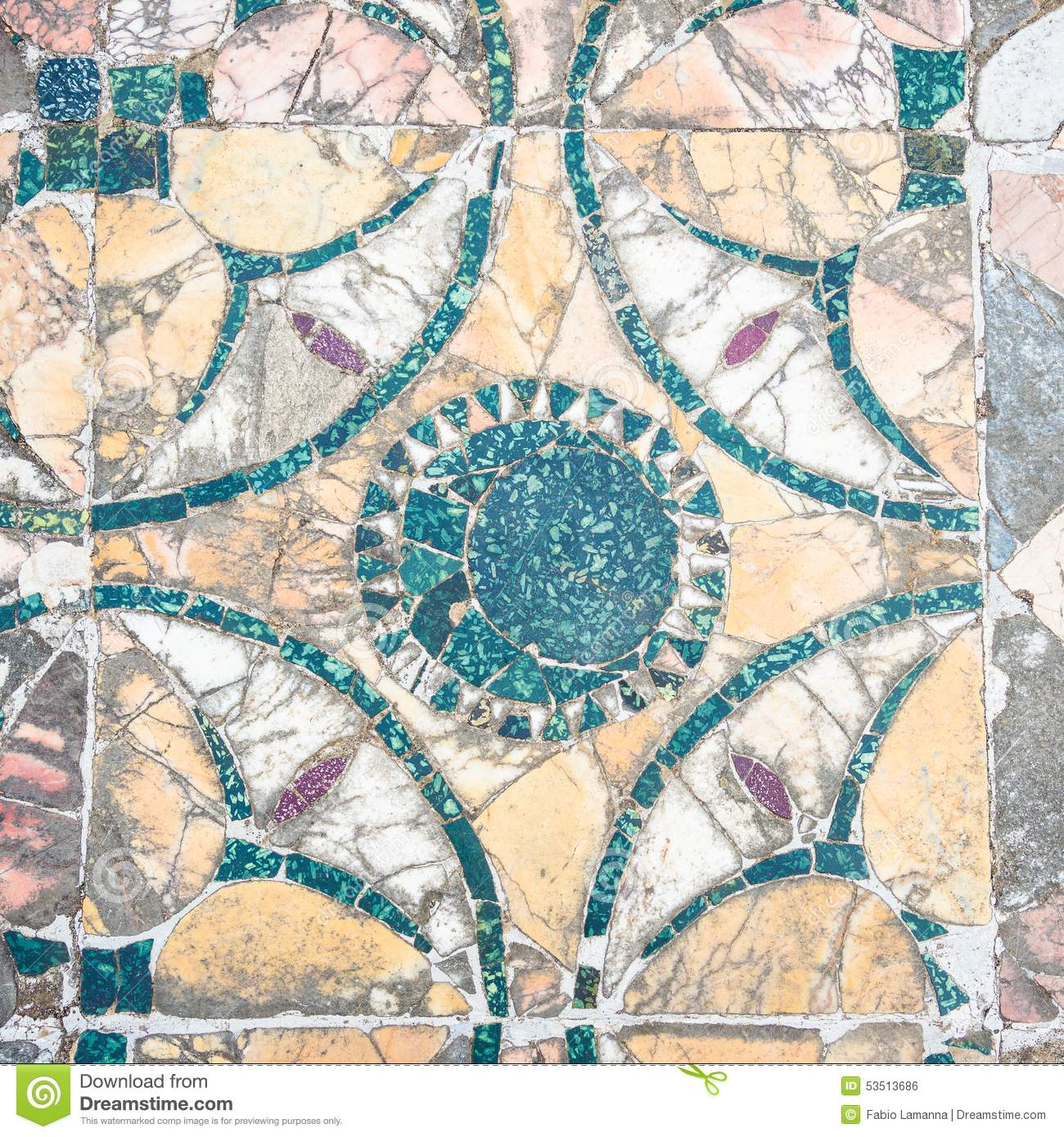 Roman Marble Floor Background Stock Photo
