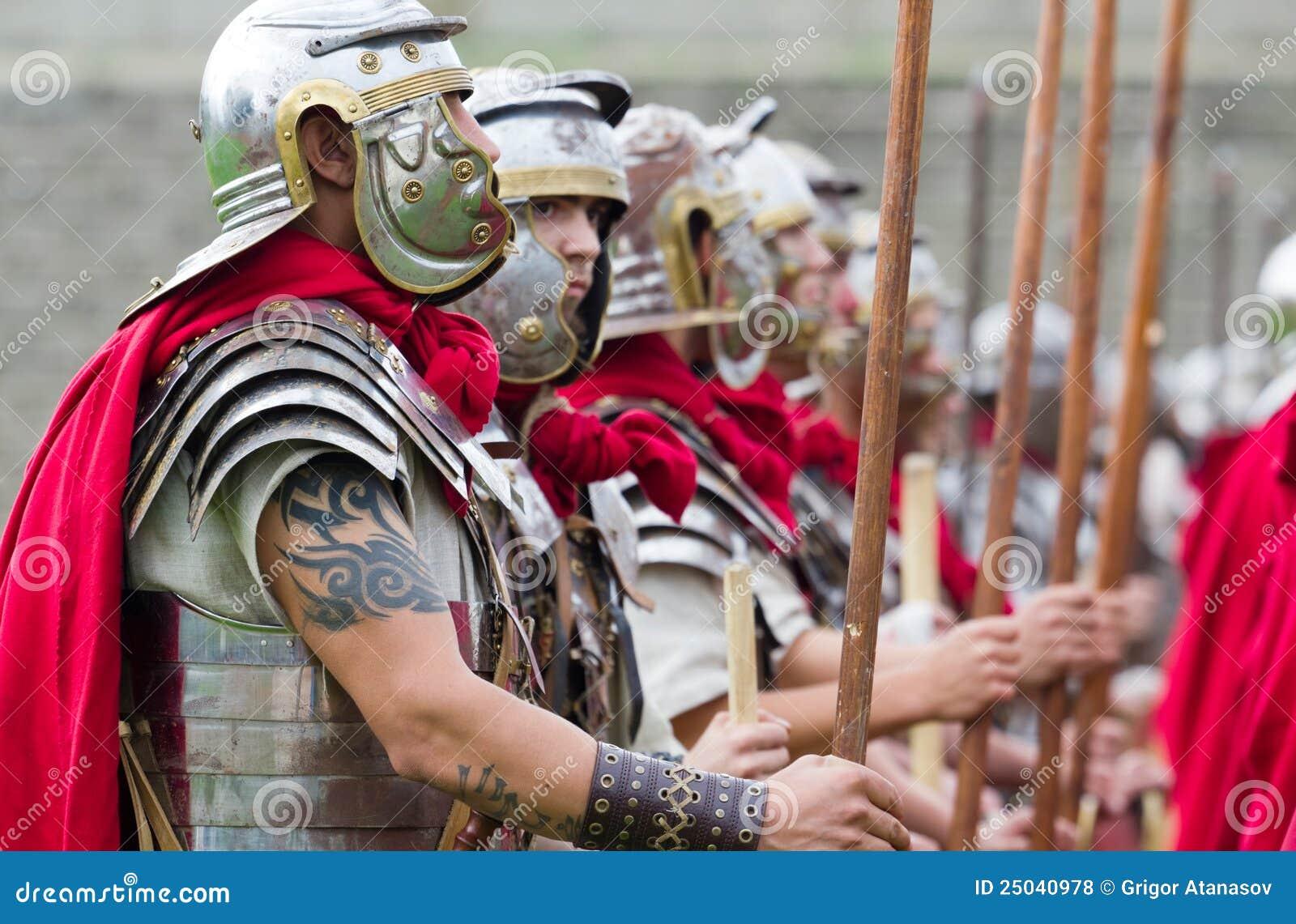 Roman militairen in pantser